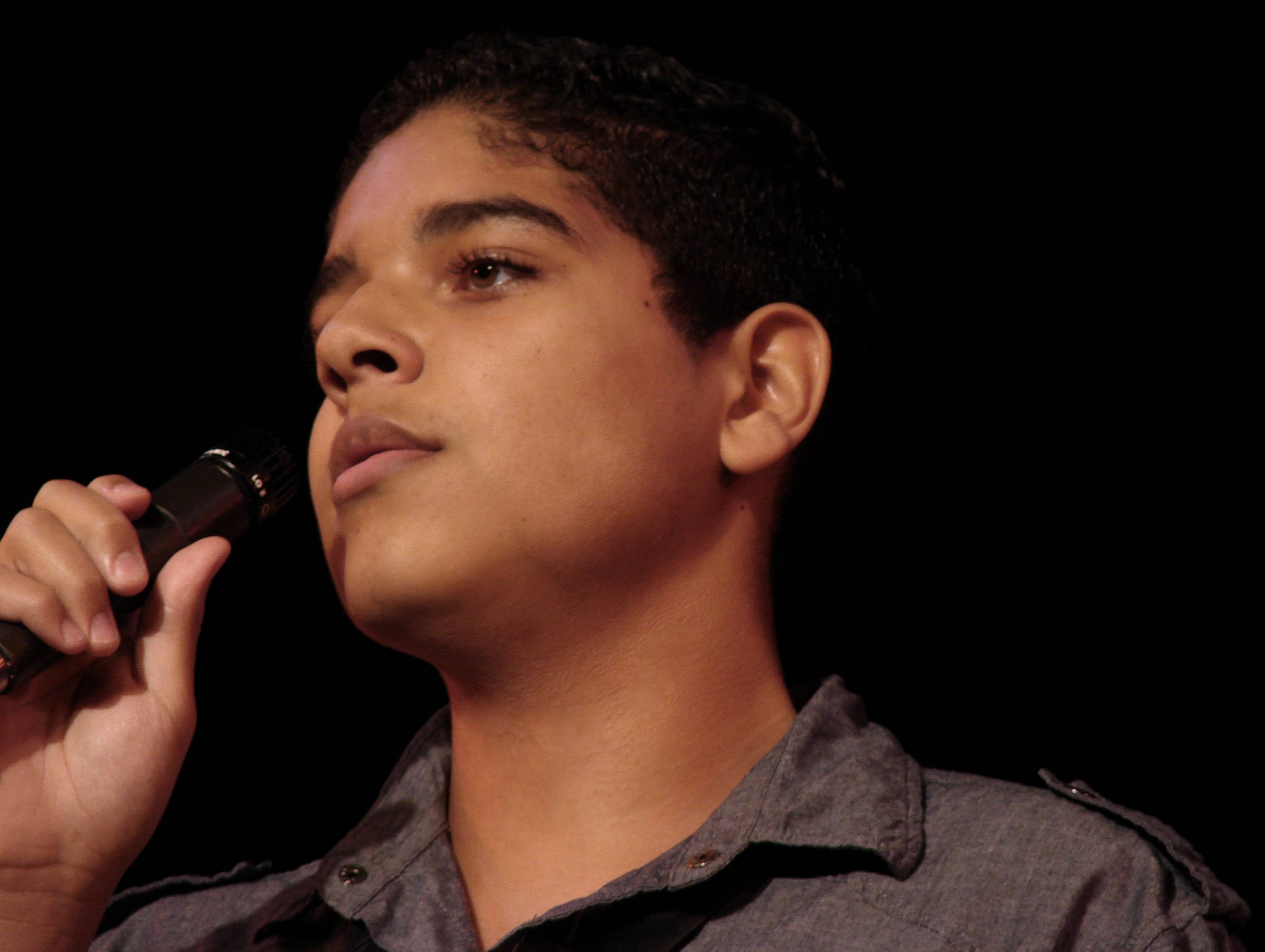 Jacob Metoyer of Itasca performs in the Aurora Public Library's Third Annual Teen Talent Show and Competition in August, 2011.