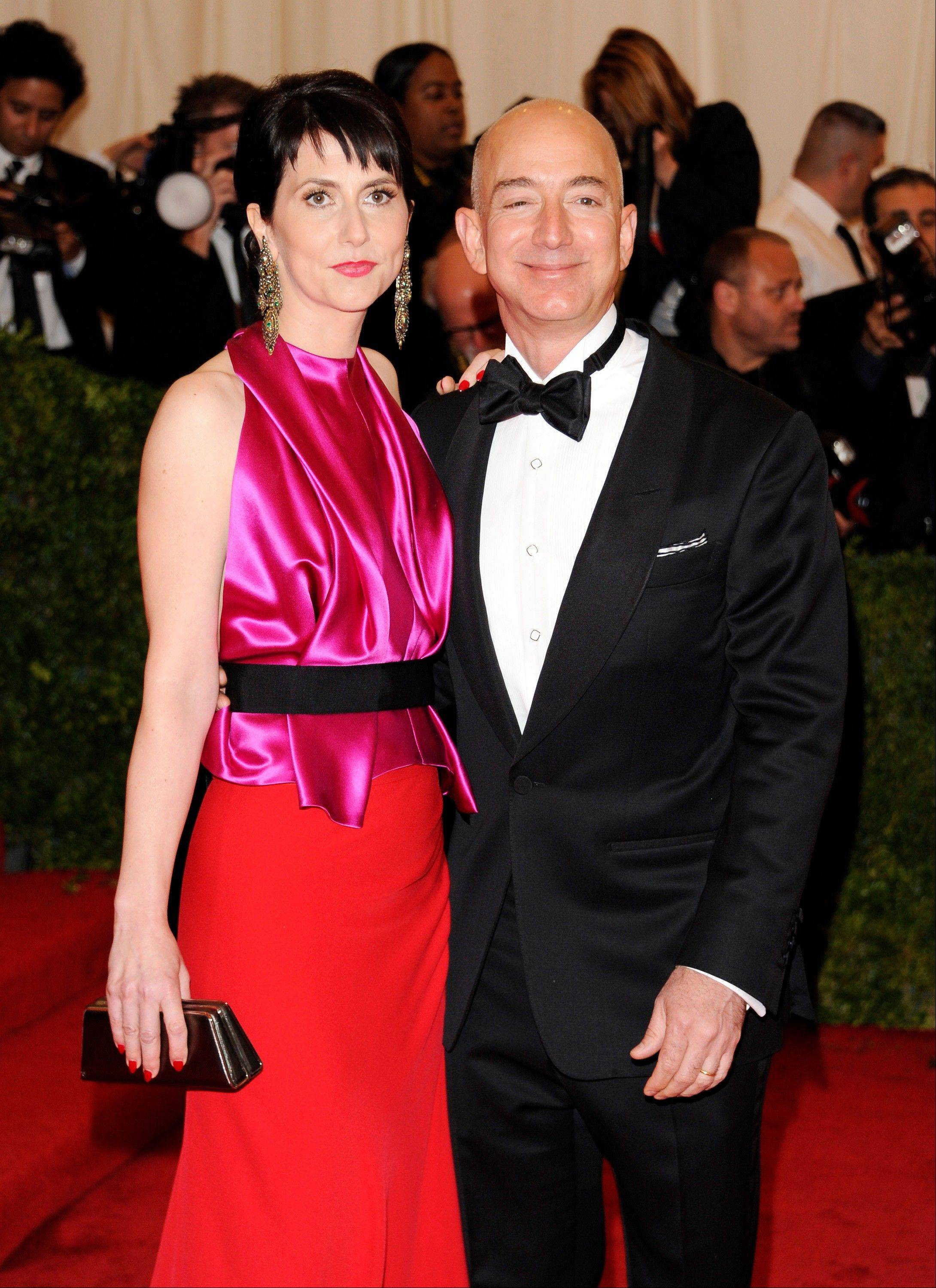 Associated Press/May 7, 2012 Amazon founder, president and CEO Jeff Bezos and wife Mackenzie Bezos arrive at the Metropolitan Museum of Art Costume Institute gala benefit.