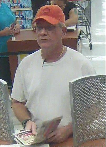 A man between 50 and 55 years old and about 6 feet tall is suspected of robbing a TCF Bank in Glendale Heights Friday.