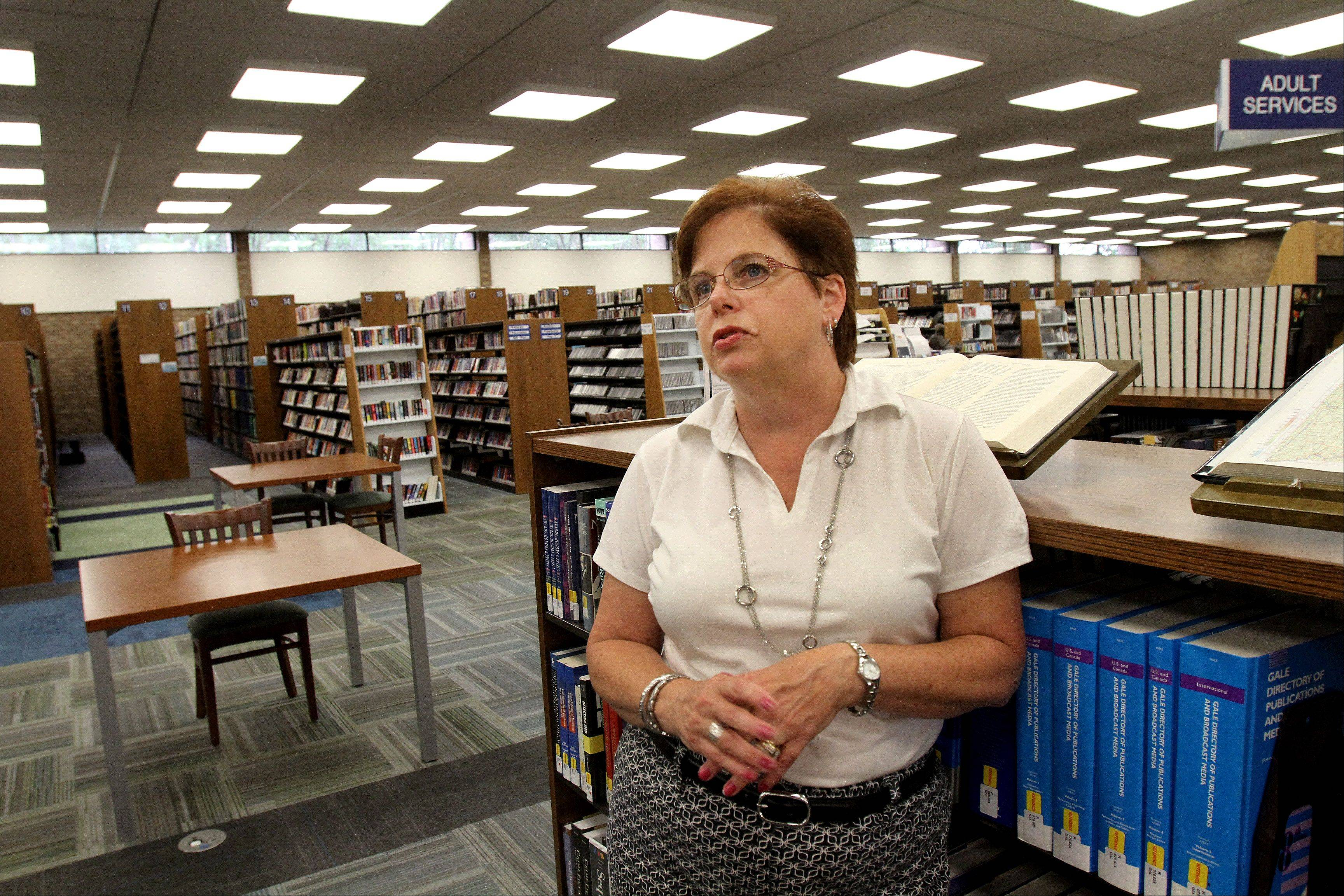 "Former Carol Stream Library Director Ann Kennedy says she was planning a technology upgrade for the library and a celebration for its 50th anniversary, but those plans now are on hold. ""Nobody feels like partying right now,"" she said."