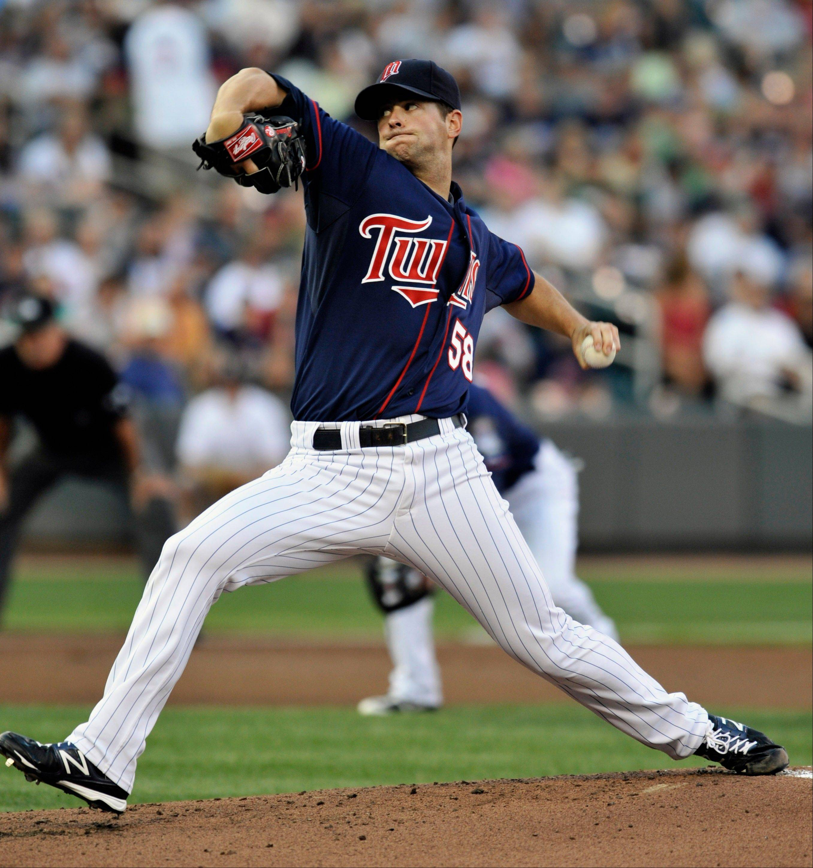 Minnesota's Scott Diamond allowed just one Cleveland baserunner after the fifth inning, striking out six and notching his first career shutout Friday at home.