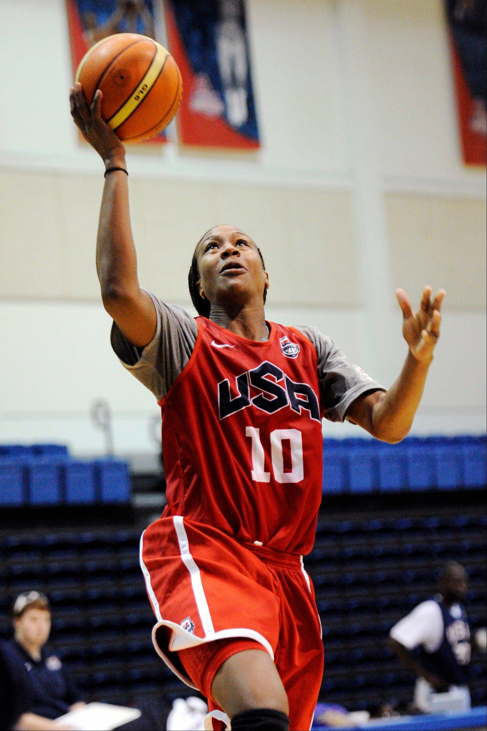 U.S. women's Olympic basketball player Tamika Catchings is hoping to win her third gold medal at age 33. The former Stevenson High School star helped capture the gold in 2004 and 2008 for Team USA.