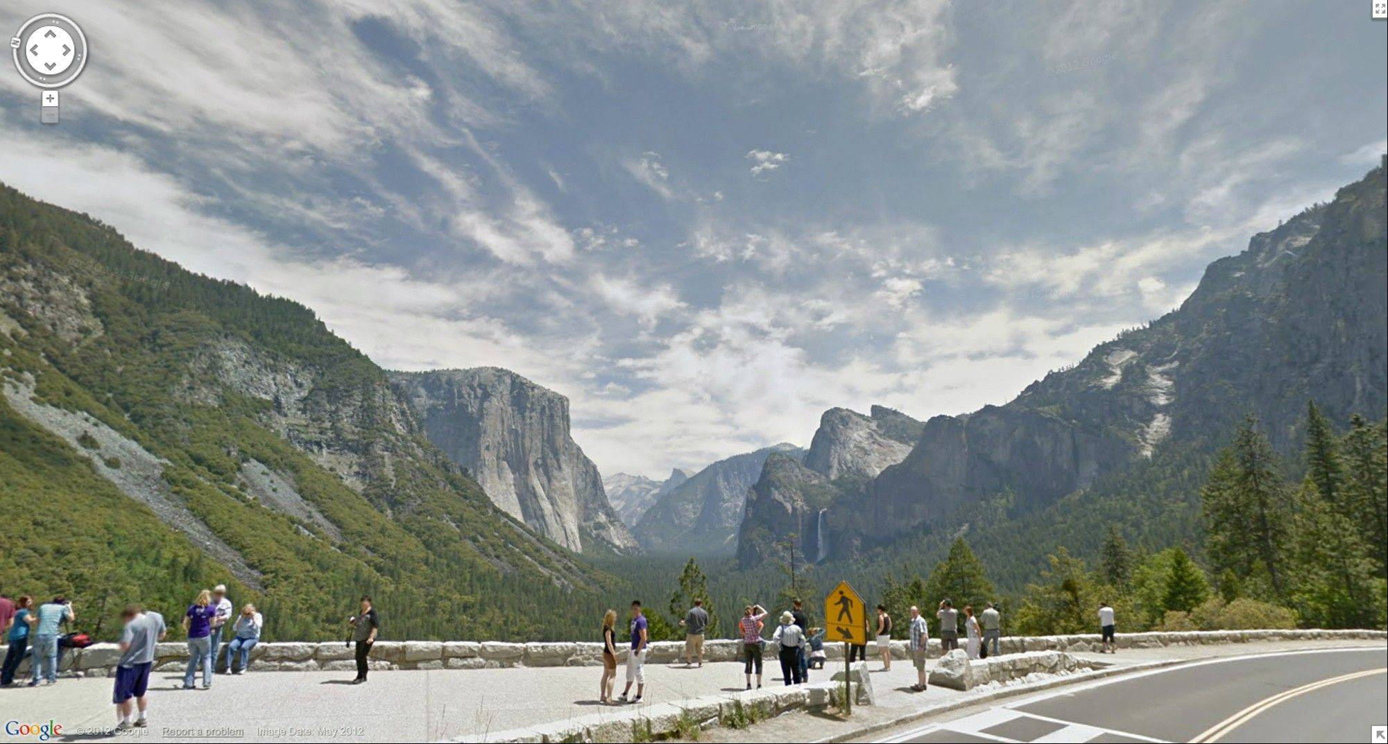 Associated Press In this Street View image provided by Google you can see Inspiration Point at Yosemite National Park in California.