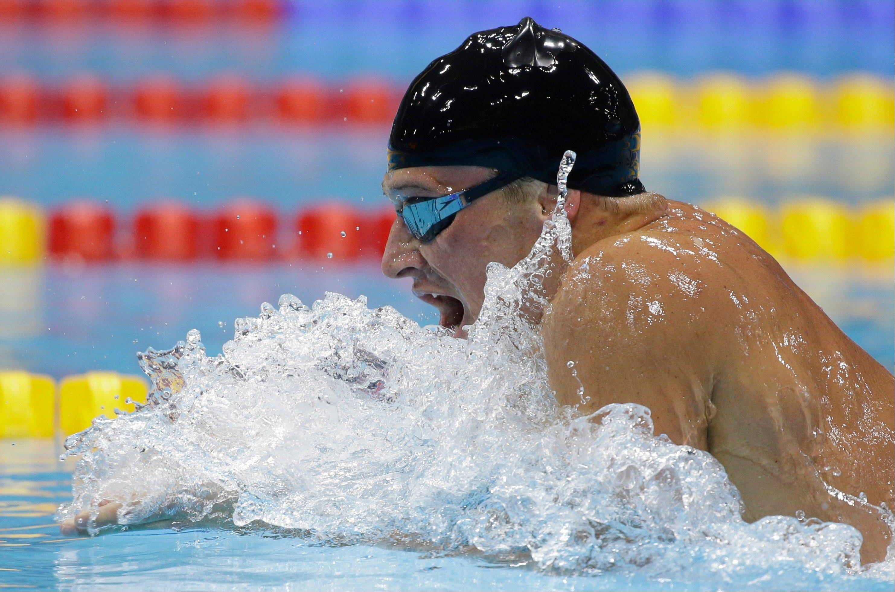 United States� Ryan Lochte competes in the men�s 400-meter individual medley swimming final at the Aquatics Centre in the Olympic Park during the 2012 Summer Olympics in London, Saturday, July 28, 2012.