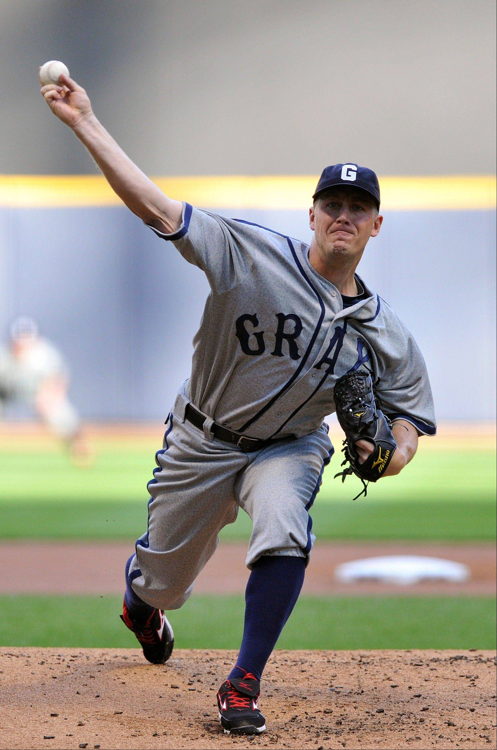 Washington�s Jordan Zimmermann struck out six and gave up five hits in six innings Saturday in Milwaukee.