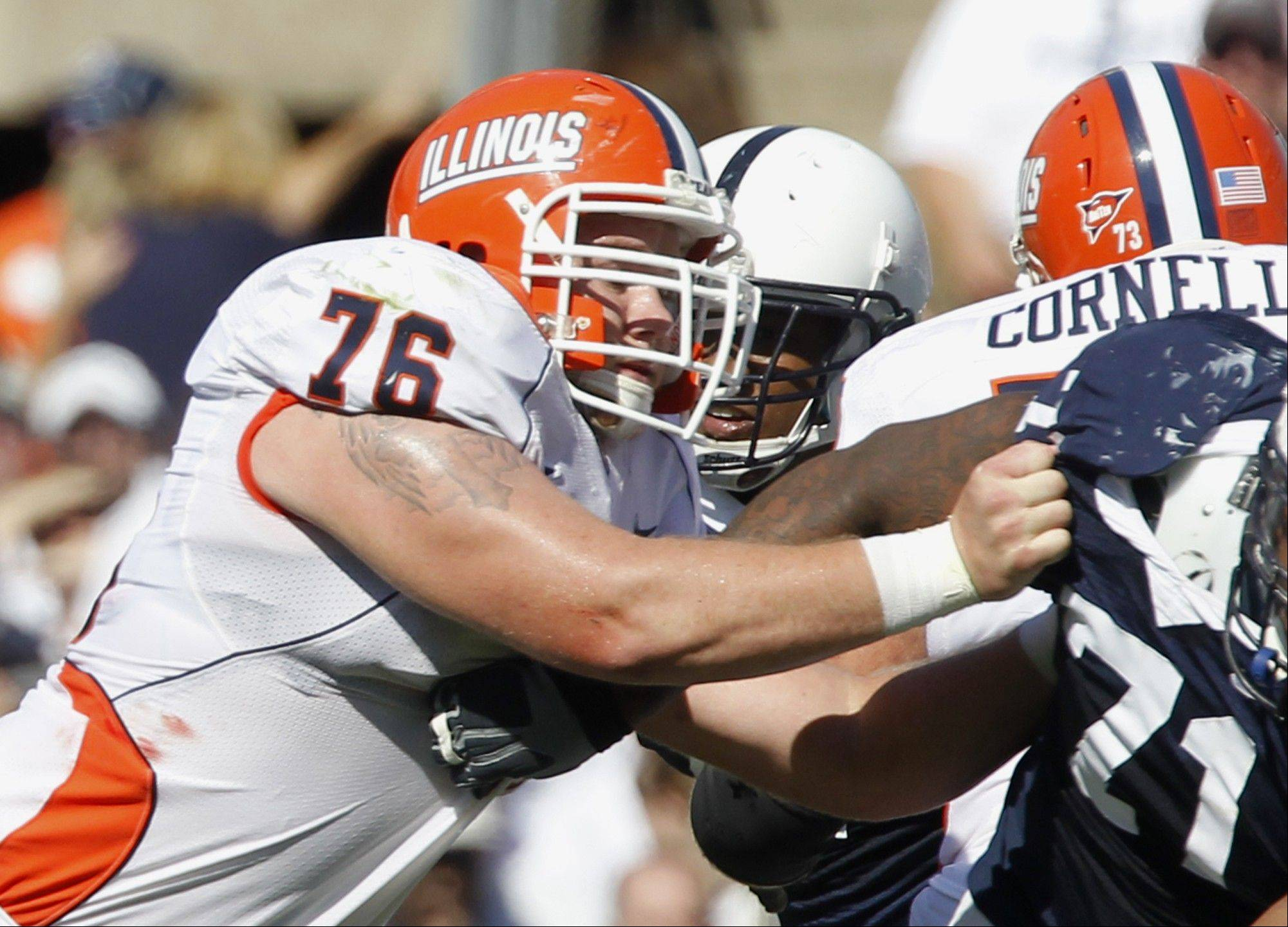 Senior center Graham Pocic has become the leader of the offensive line.