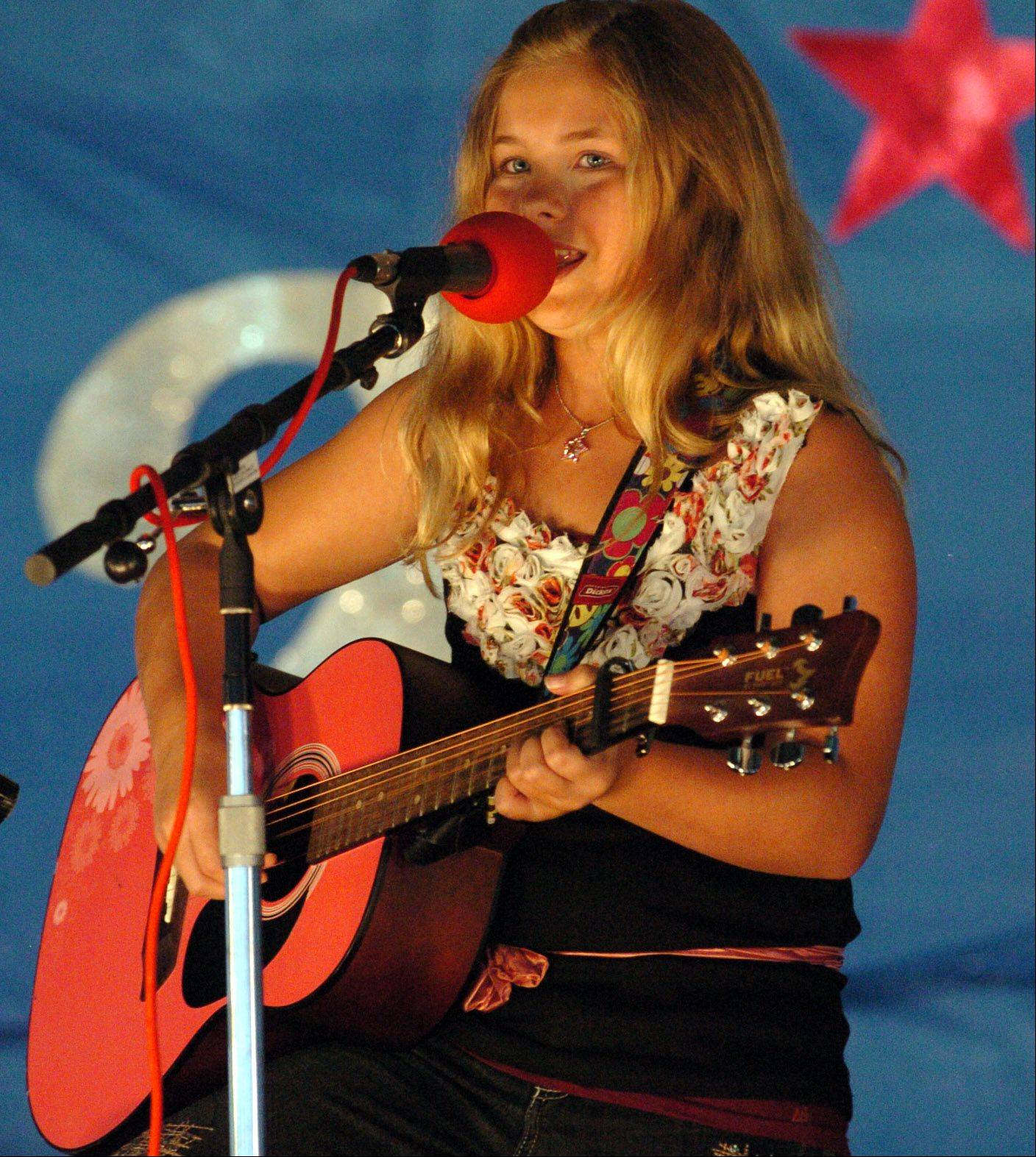 Lauren Thelander, 10, of Crystal Lake, was the first to perform for the junior division at the McHenry County Fair Talent Contest last year. This year's talent contest is set for Friday, Aug. 3.