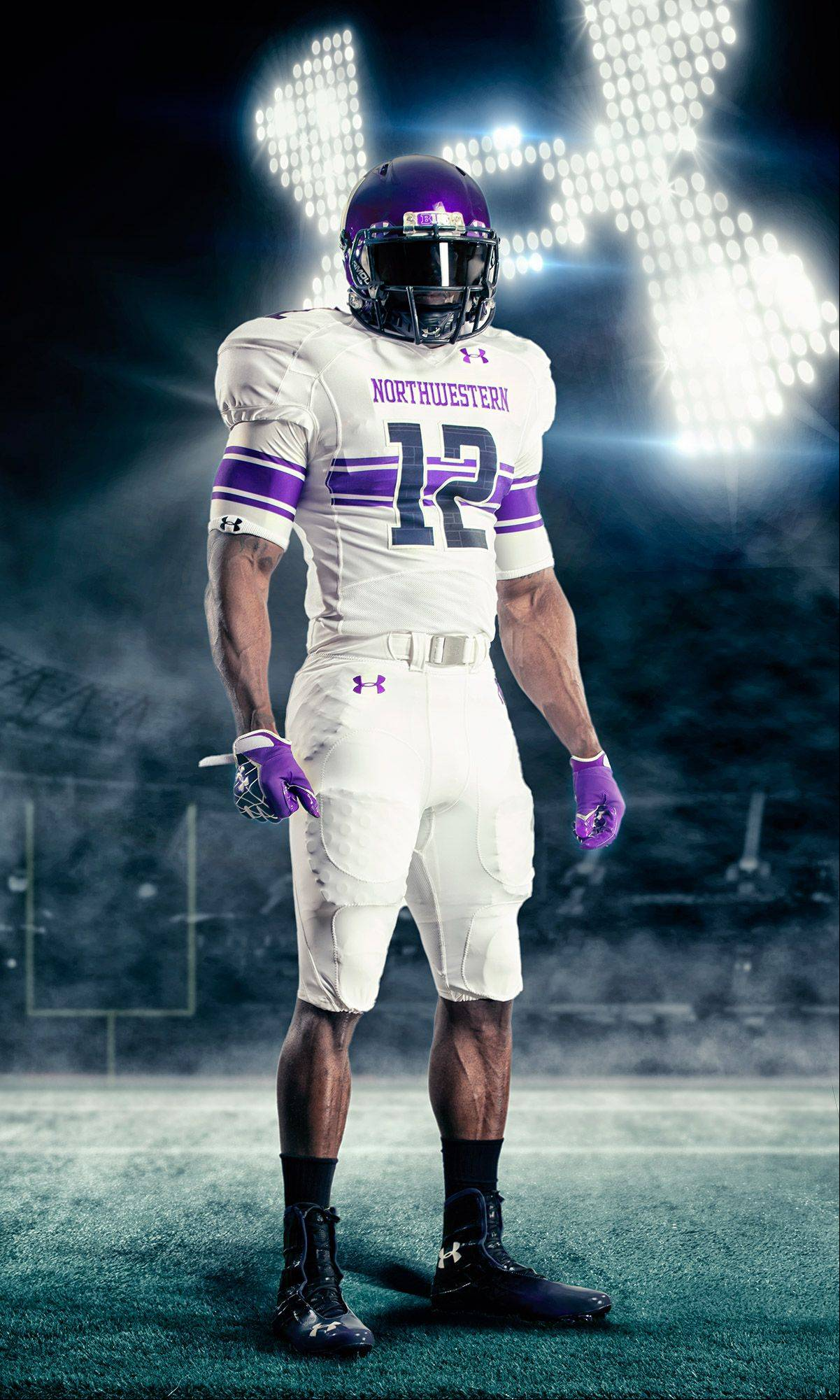 Northwestern's new uniform in partnership with Under Armor