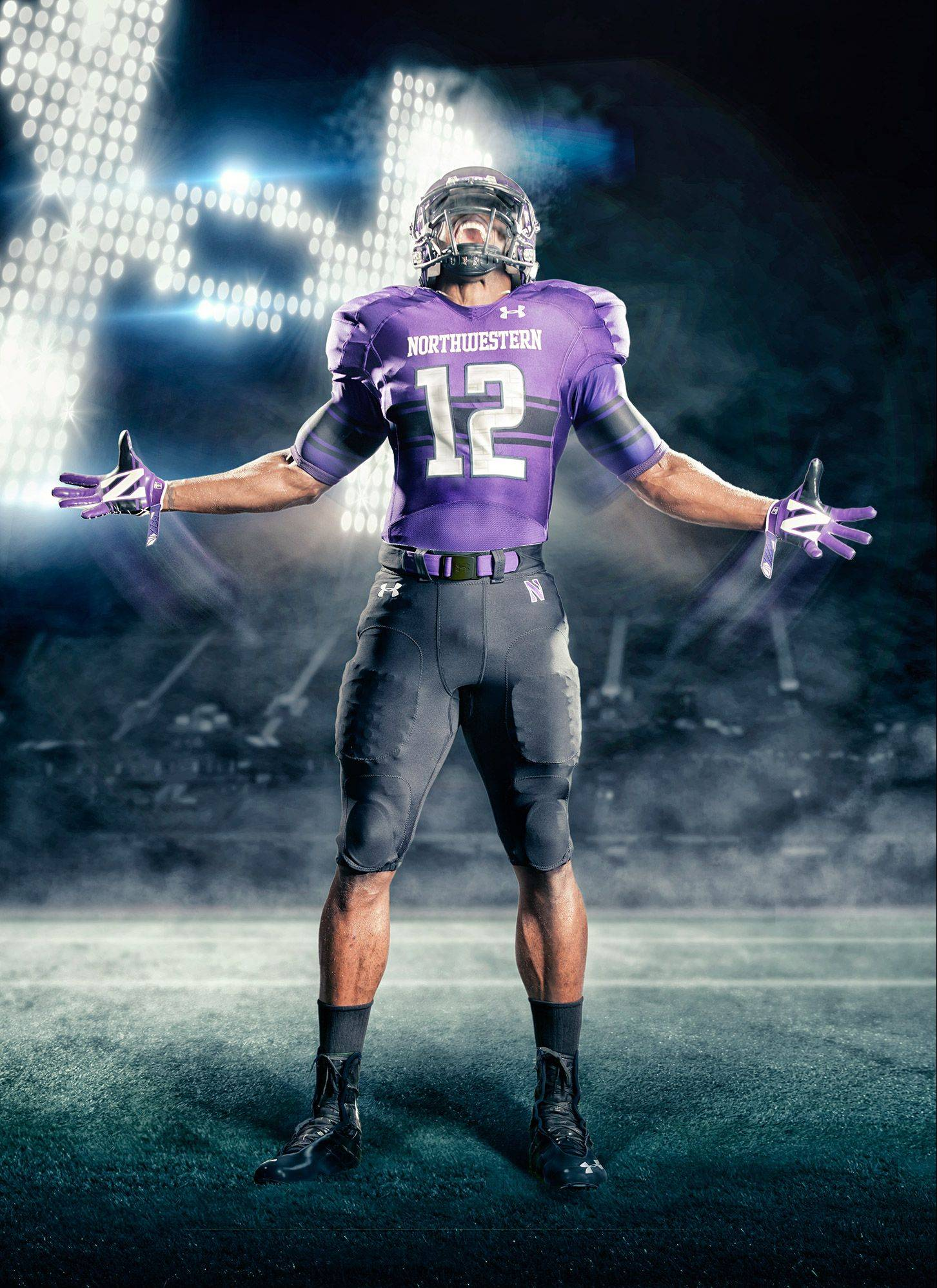 Northwestern players will wear new uniforms this season.