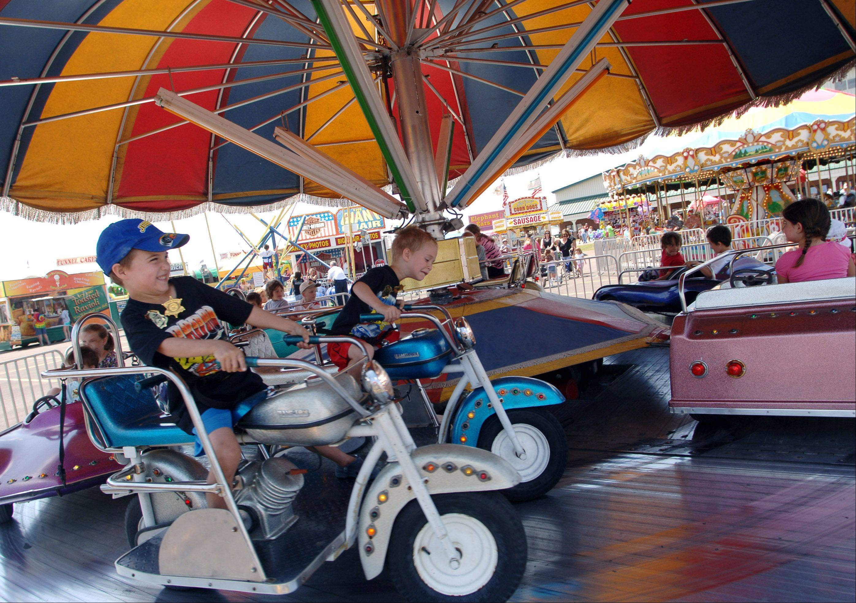 Fairgoers enjoy a previous edition of the Lake County Fair in Grayslake.