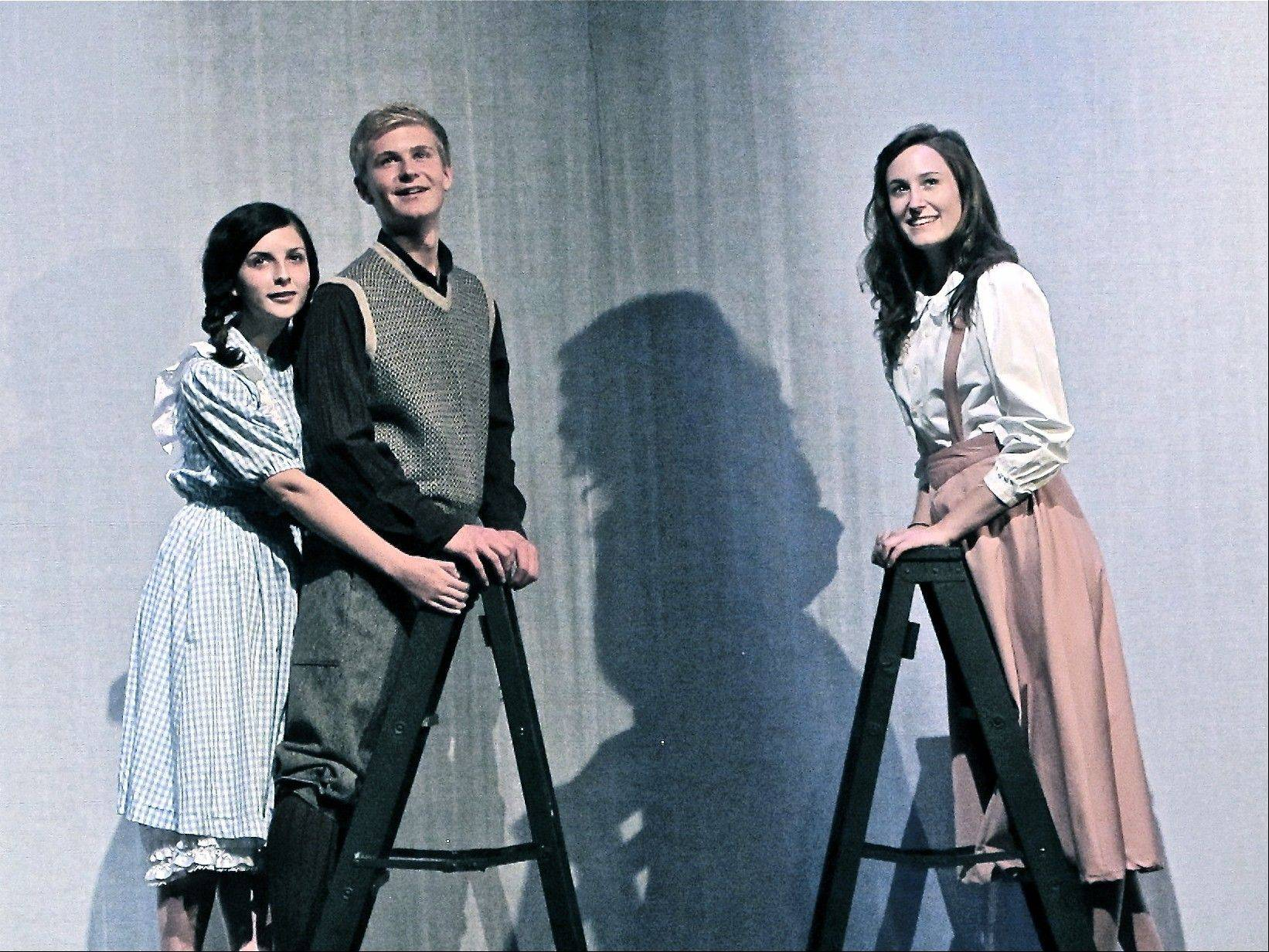 "Rebecca Gibbs, left, George Gibbs and Emily Webb star in PM&L Theatre's production of Thornton Wilder's ""Our Town"" in Antioch."