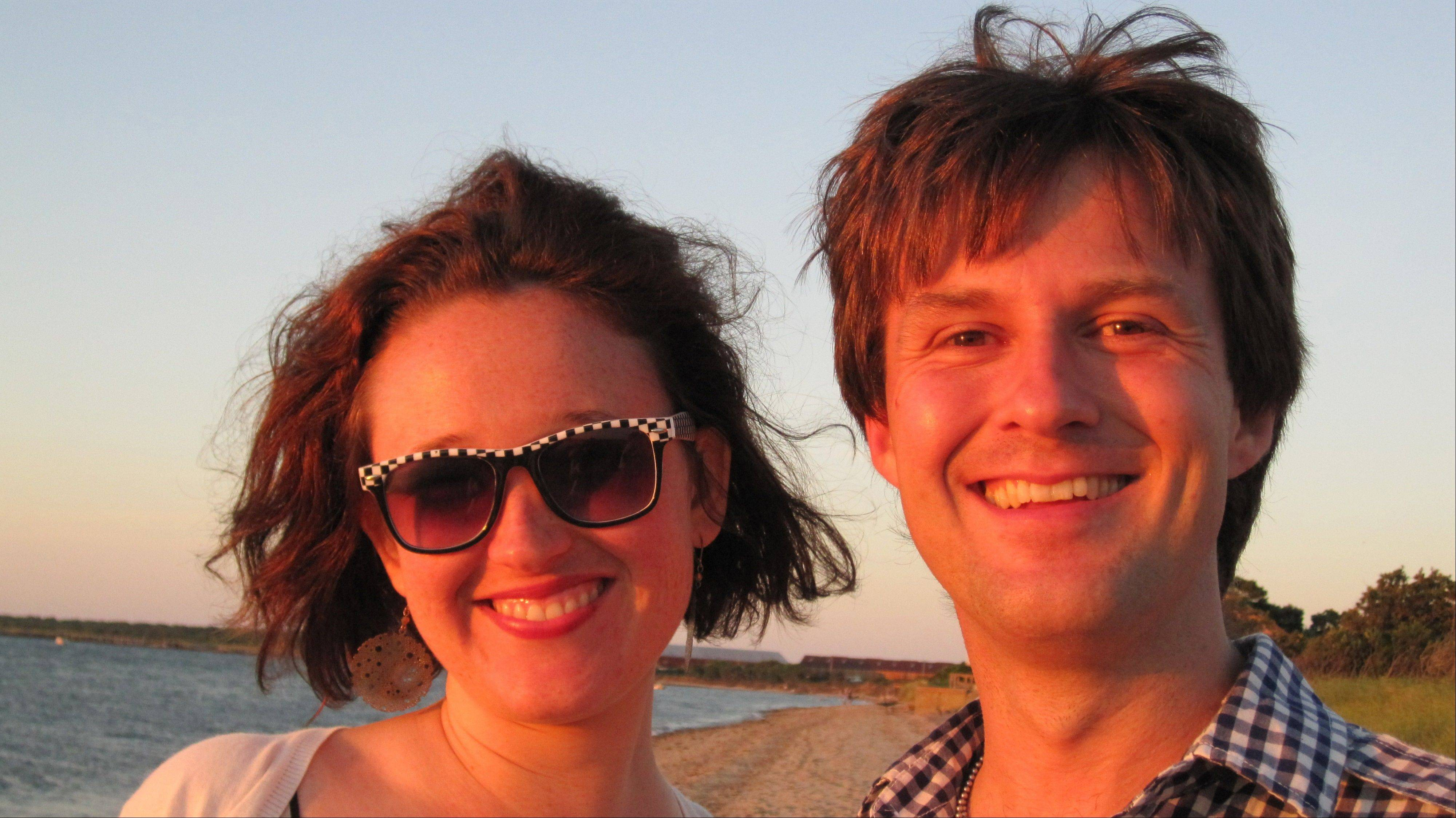 "The author with her fiance, Travis Morrison, computer nerd and sometime rock star, in 2010. ""I had never heard of his band, 'the Dismemberment Plan,' and it didnít really sound like a band I would like,"" the author writes."