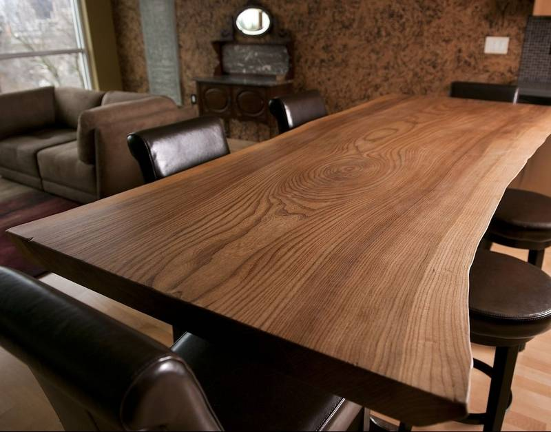 Clark Kayler Made This Elm Table From A Tree That Fell During Storm