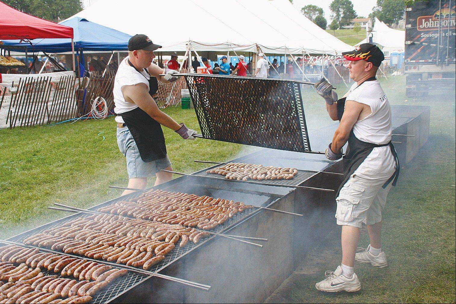 Sausage is king during Brat Days in Sheboygan, Wis., Aug. 2-4.