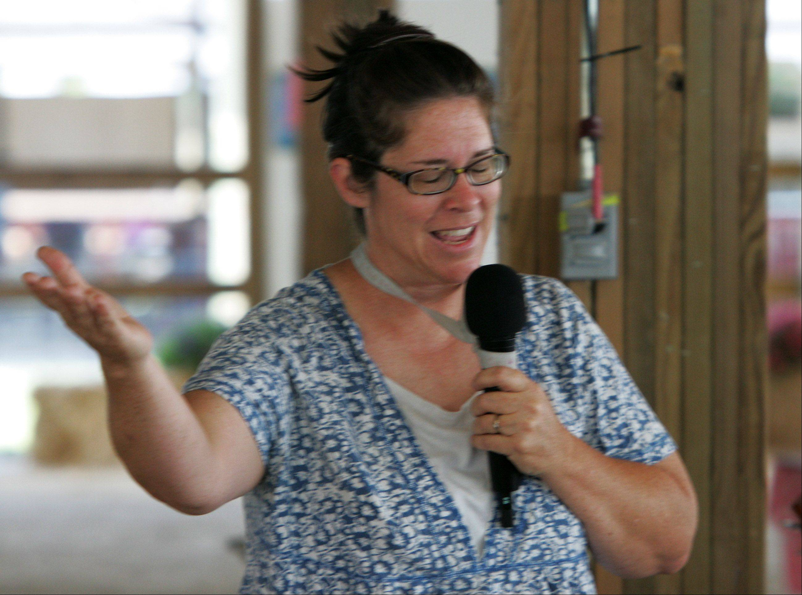 The Sunday morning service is conducted by Sarah Presley-James of United Protestant Church in Grayslake during last day of the 84th Annual Lake County Fair in Grayslake.