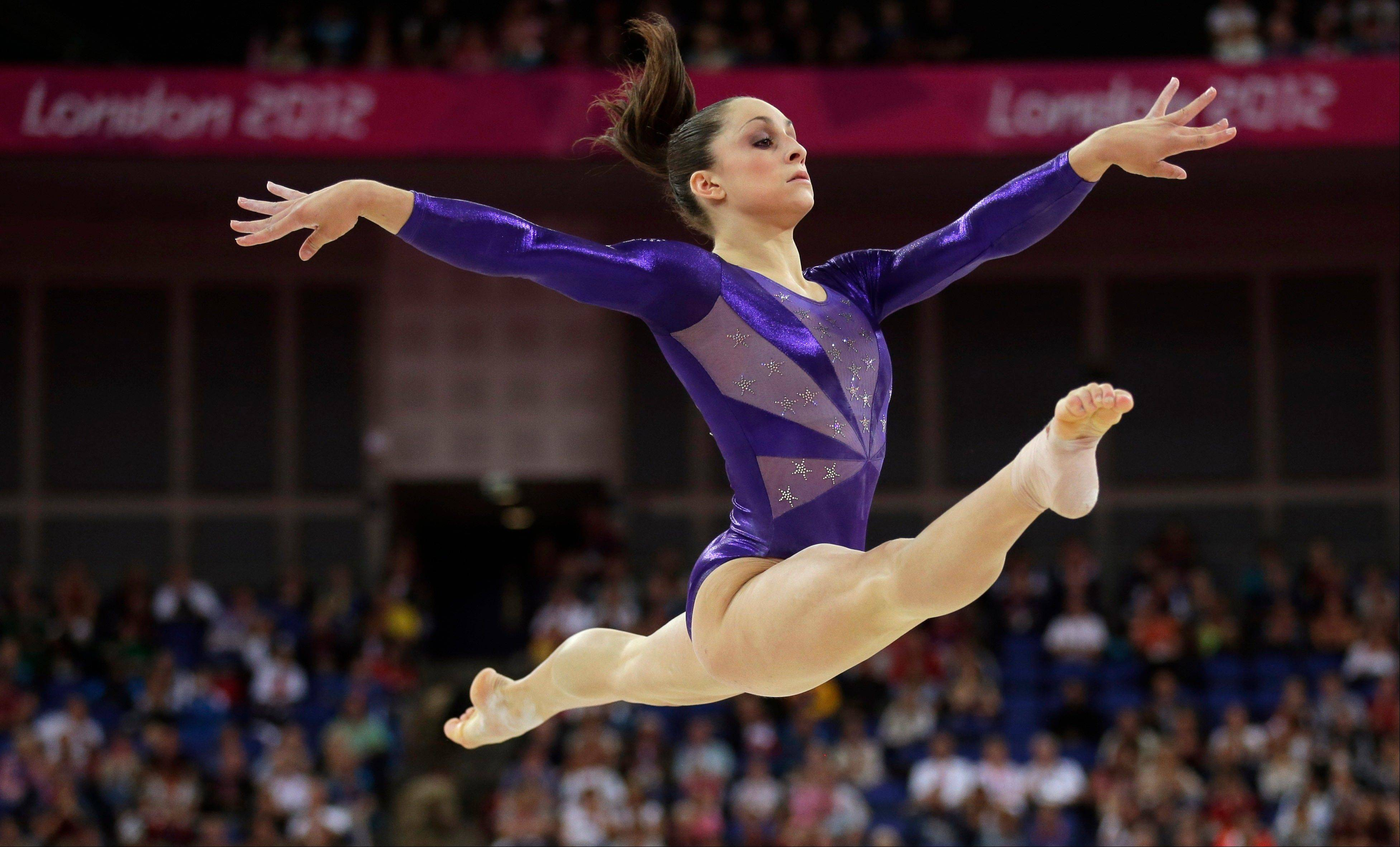 U.S. gymnast Jordyn Wieber performs on the floor Sunday during the Artistic Gymnastics women's qualification at the 2012 Summer Olympics in London.