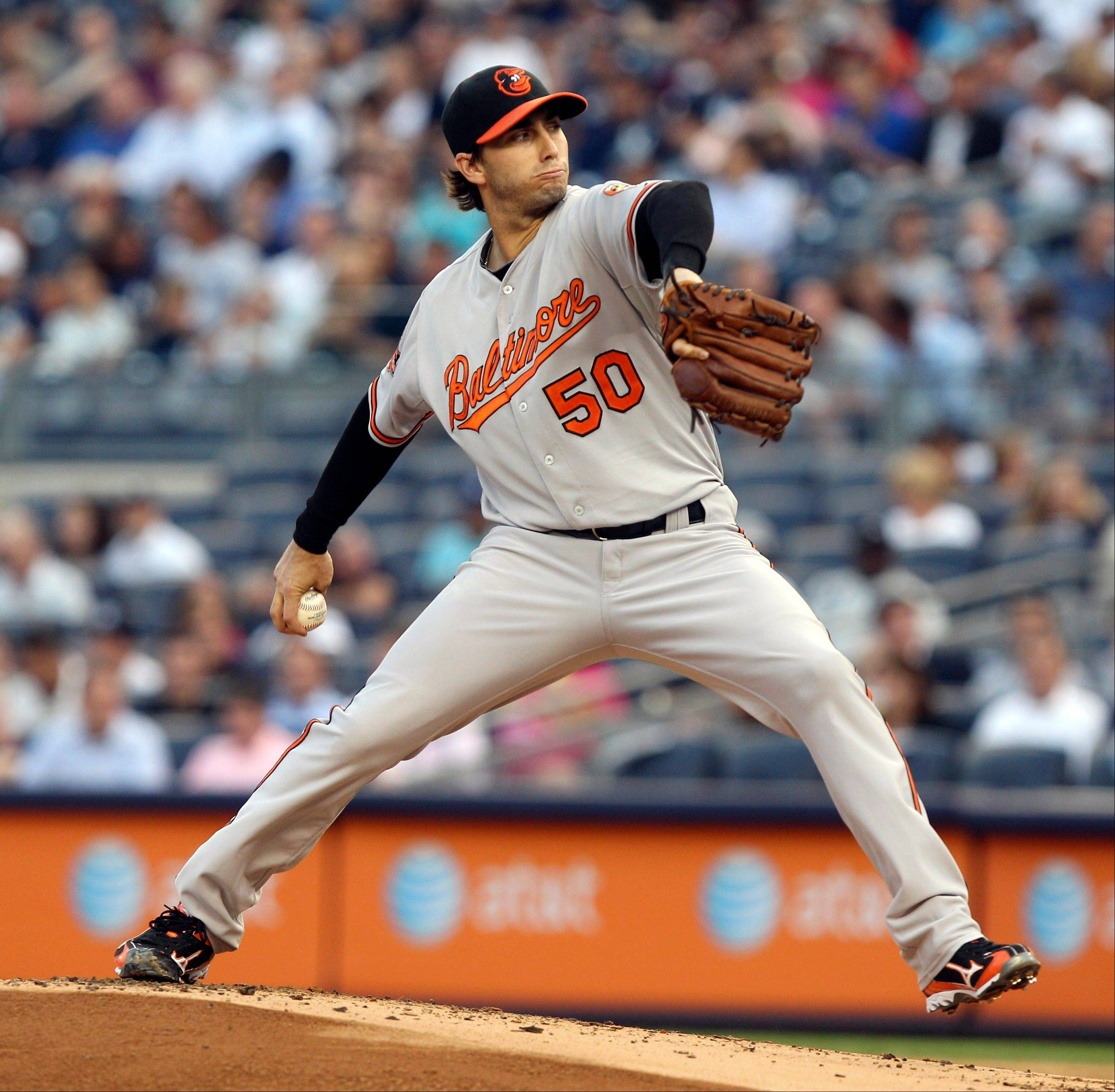 Orioles pitcher Miguel Gonzalez struck out a career-high eight without walking a batter Monday in New York.