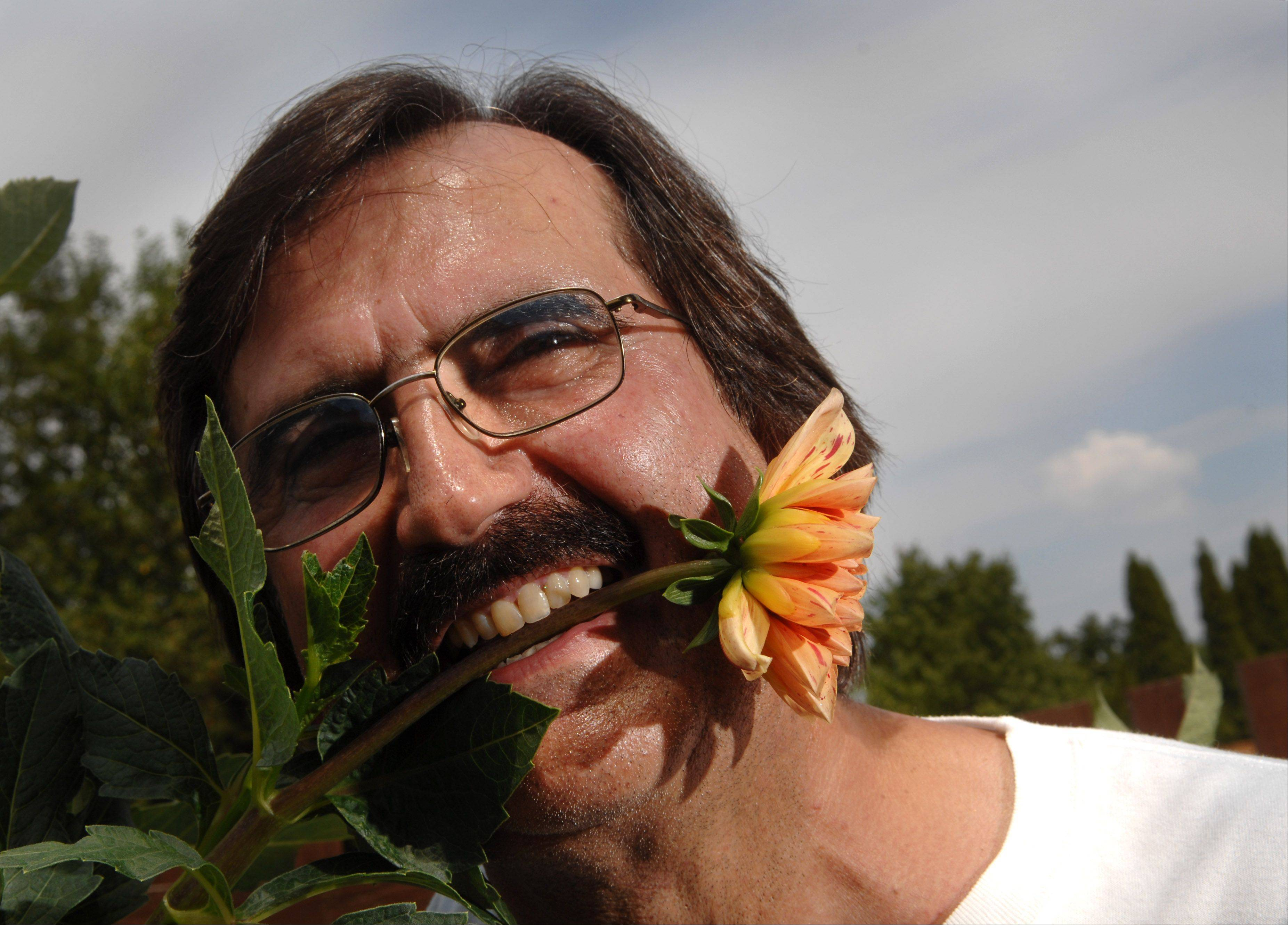 Steve Meggos of Carpentersville is renowned for his dahlias.