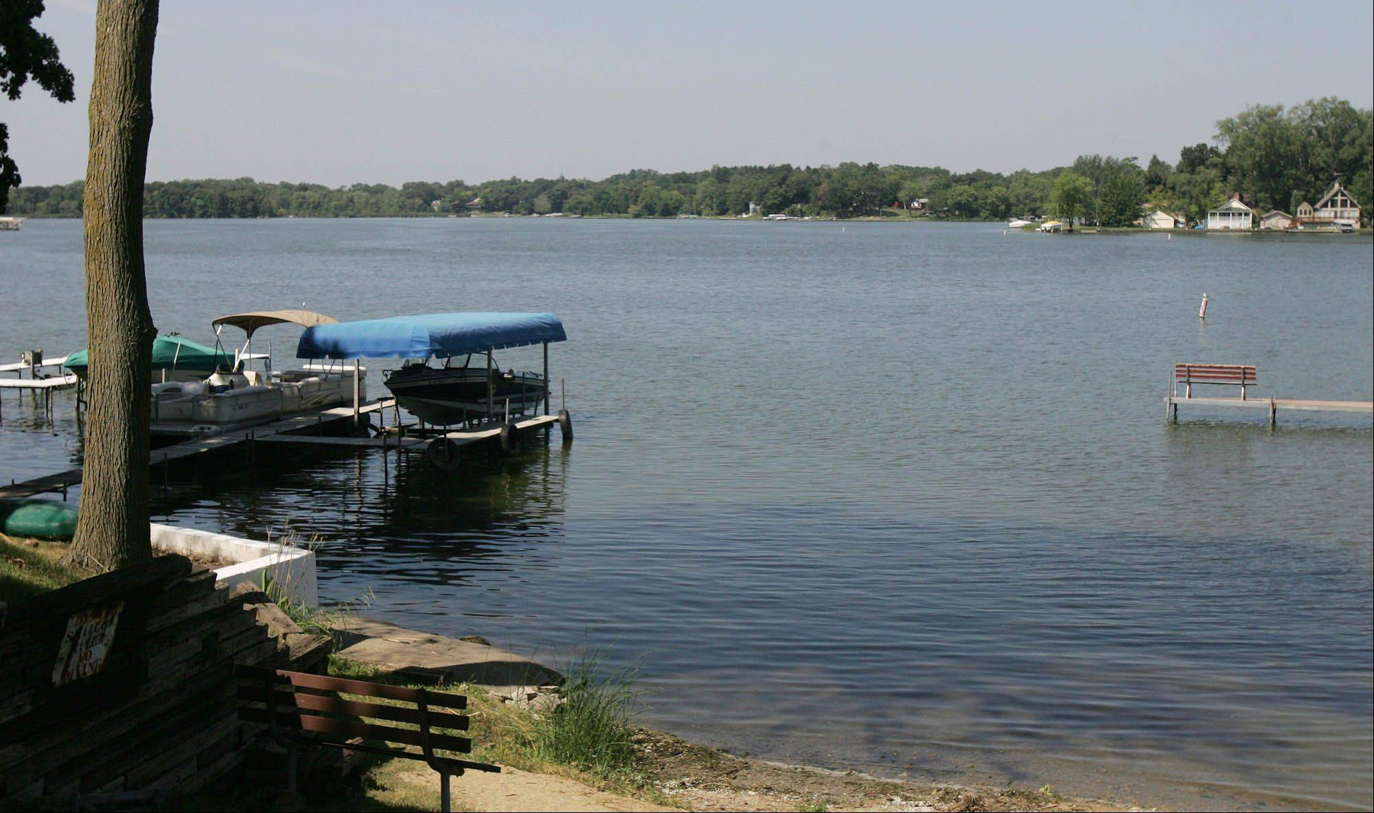 Petite Lake near Lake Villa was significantly less crowded with boat traffic Monday than over the weekend, when a 10-year-old Libertyville boy was killed in a boating accident. Authorities are still investigating the death, which occurred when the boy fell from an inner tube and was struck by a boat.