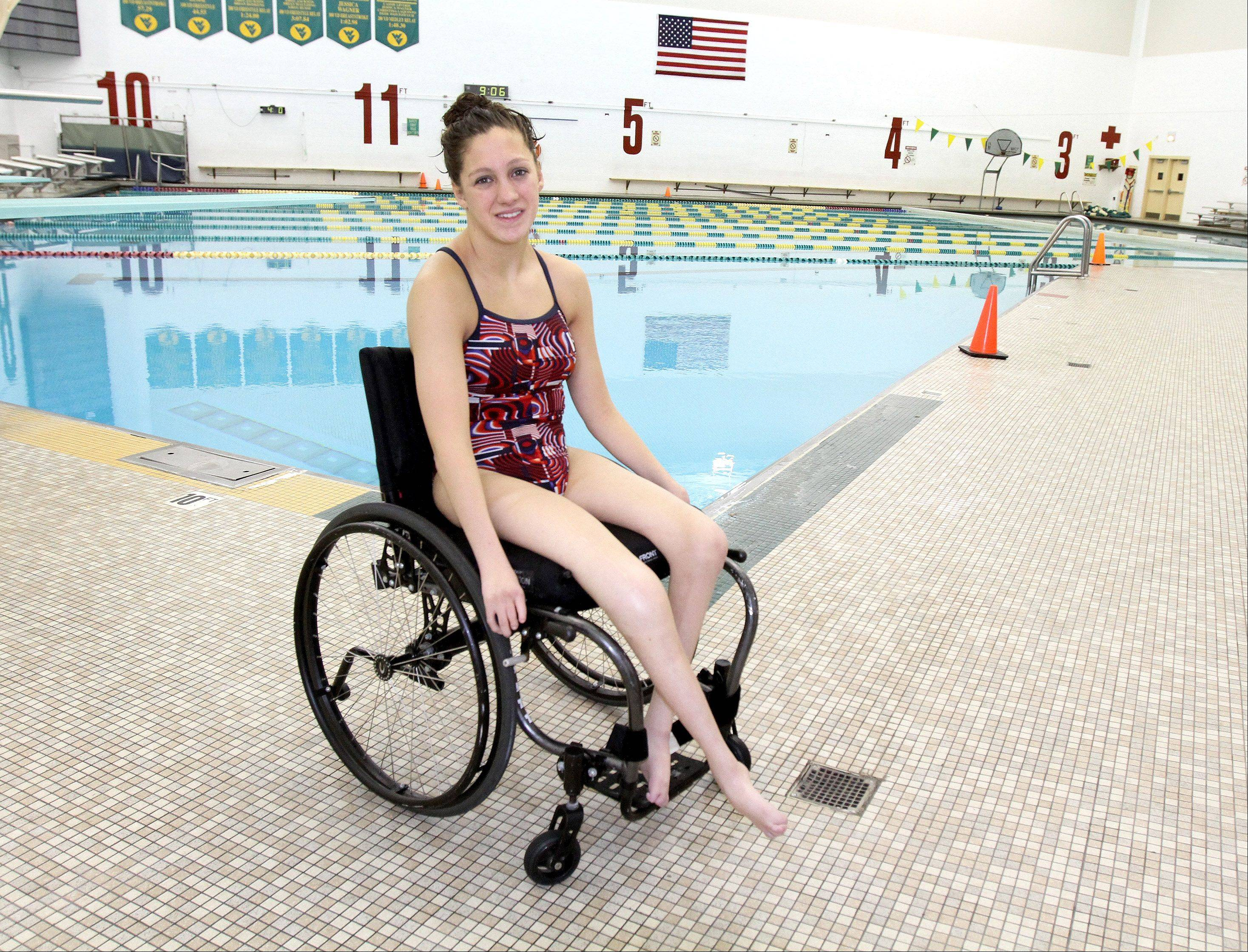 Naperville teen Alyssa Gialamas is excited to represent Waubonsie Valley High School in this year's Paralympics in London.