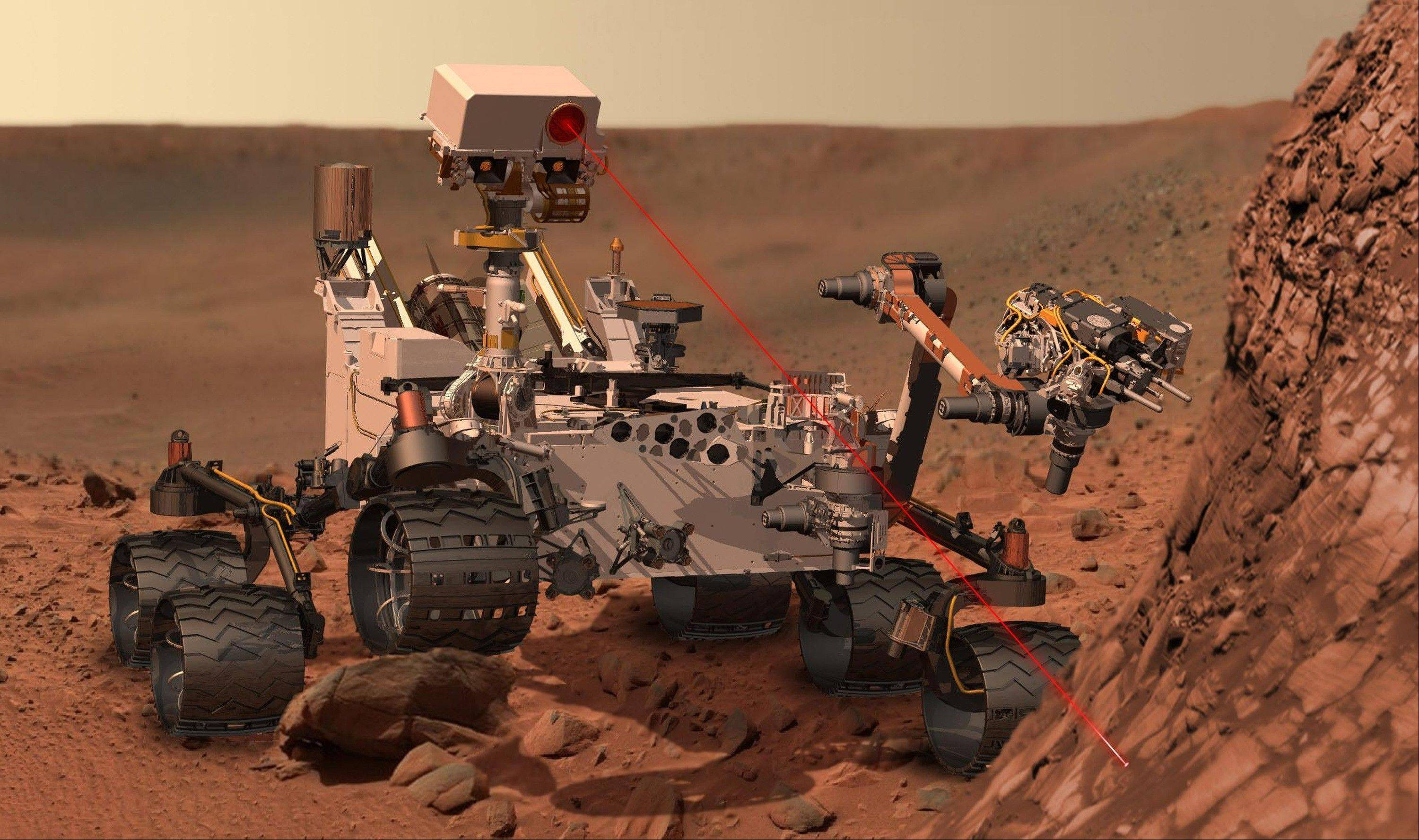 This artists rendering provided by NASA shows the Mars Rover, Curiosity. After traveling 8 1/2 months and 352 million miles, Curiosity will attempt a landing on Mars the night of Aug. 5, 2012.