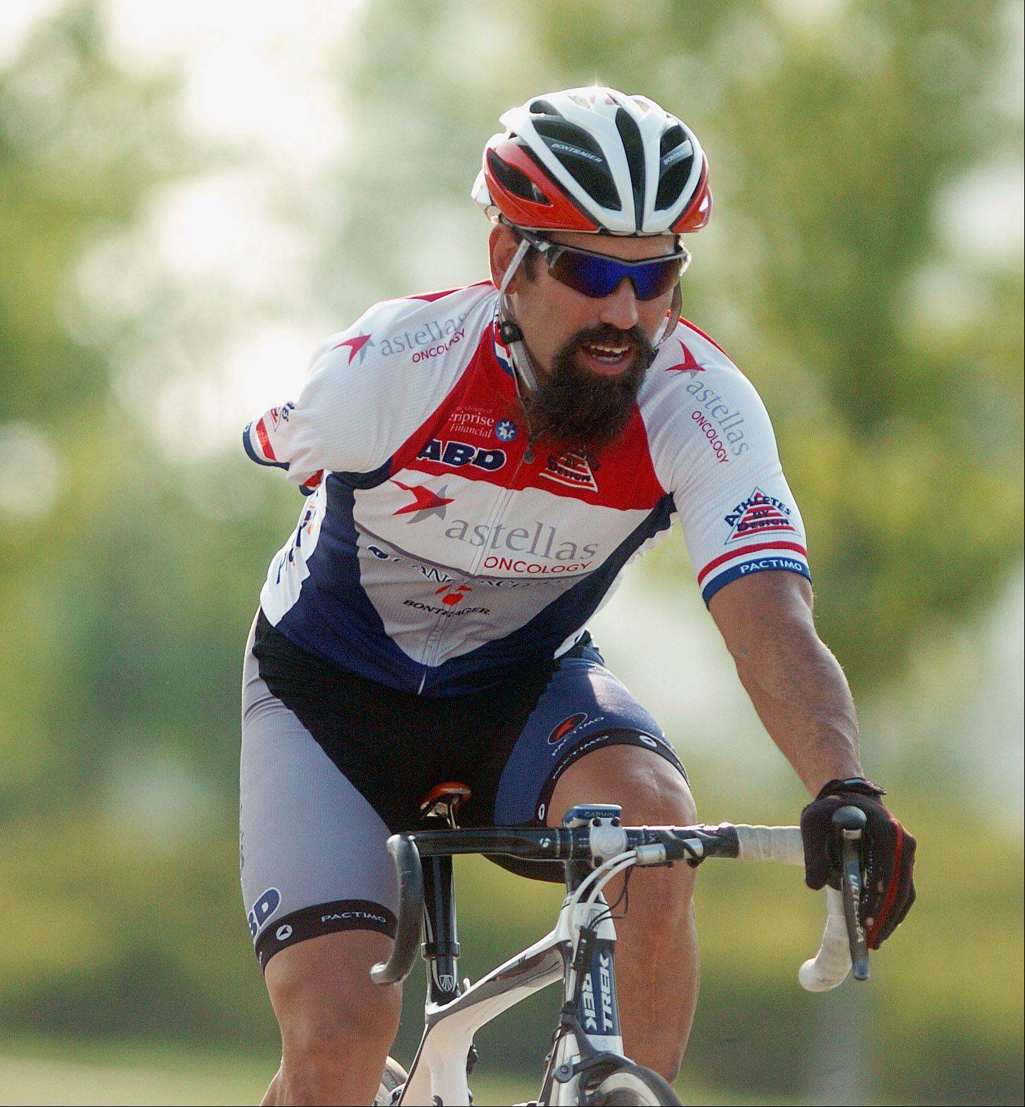 Joe Berenyi of Oswego lost an arm and a kneecap in a 1994 construction accident. But that won't stop him from competing in five cycling events next month for Team USA at the Paralympic Games in London.