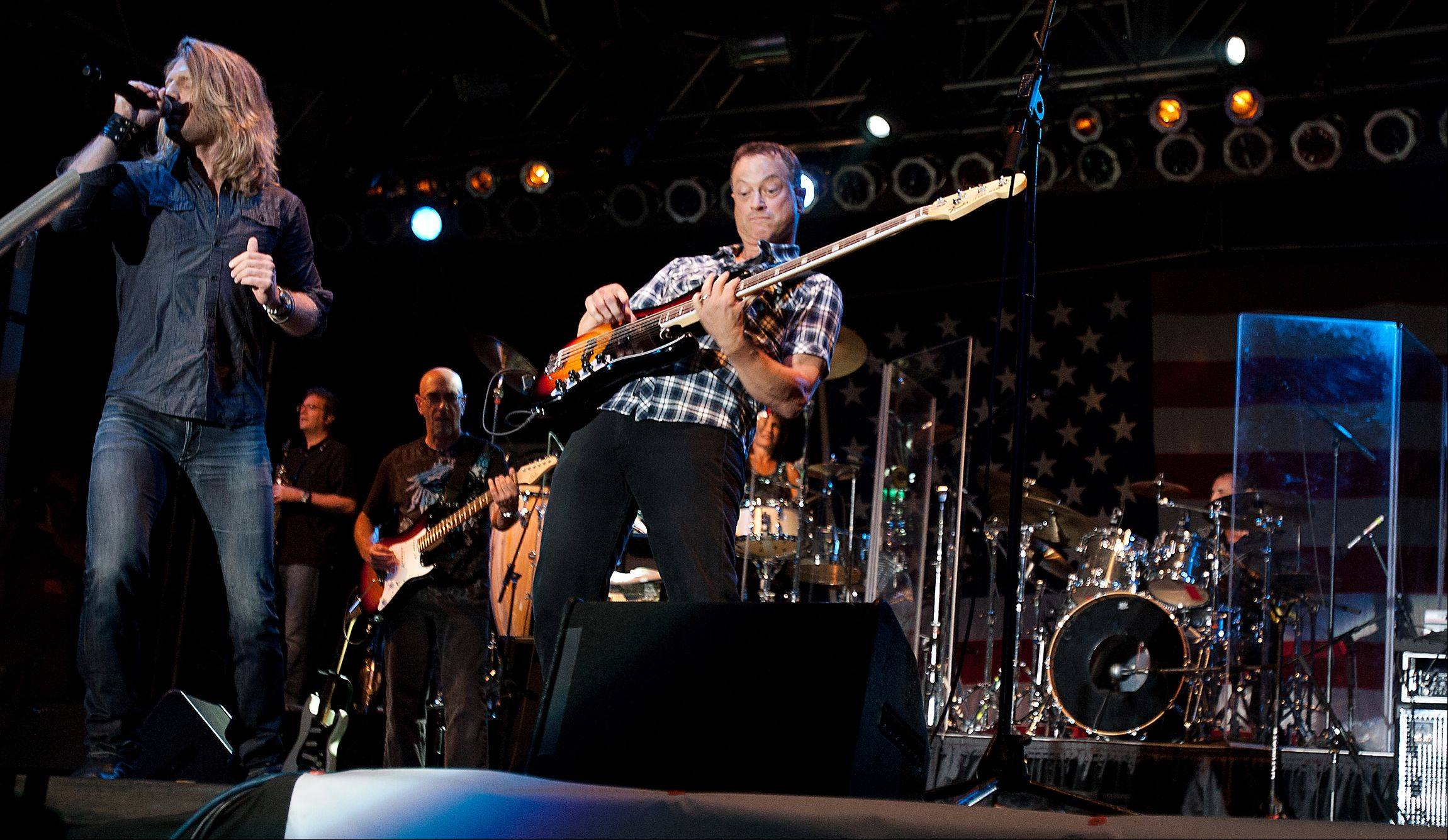 Gary Sinise and the Lt. Dan Band perform their Rockin' for the Troops concert at Cantigny Park in Wheaton, in honor of Operation Support Our Troops-America.