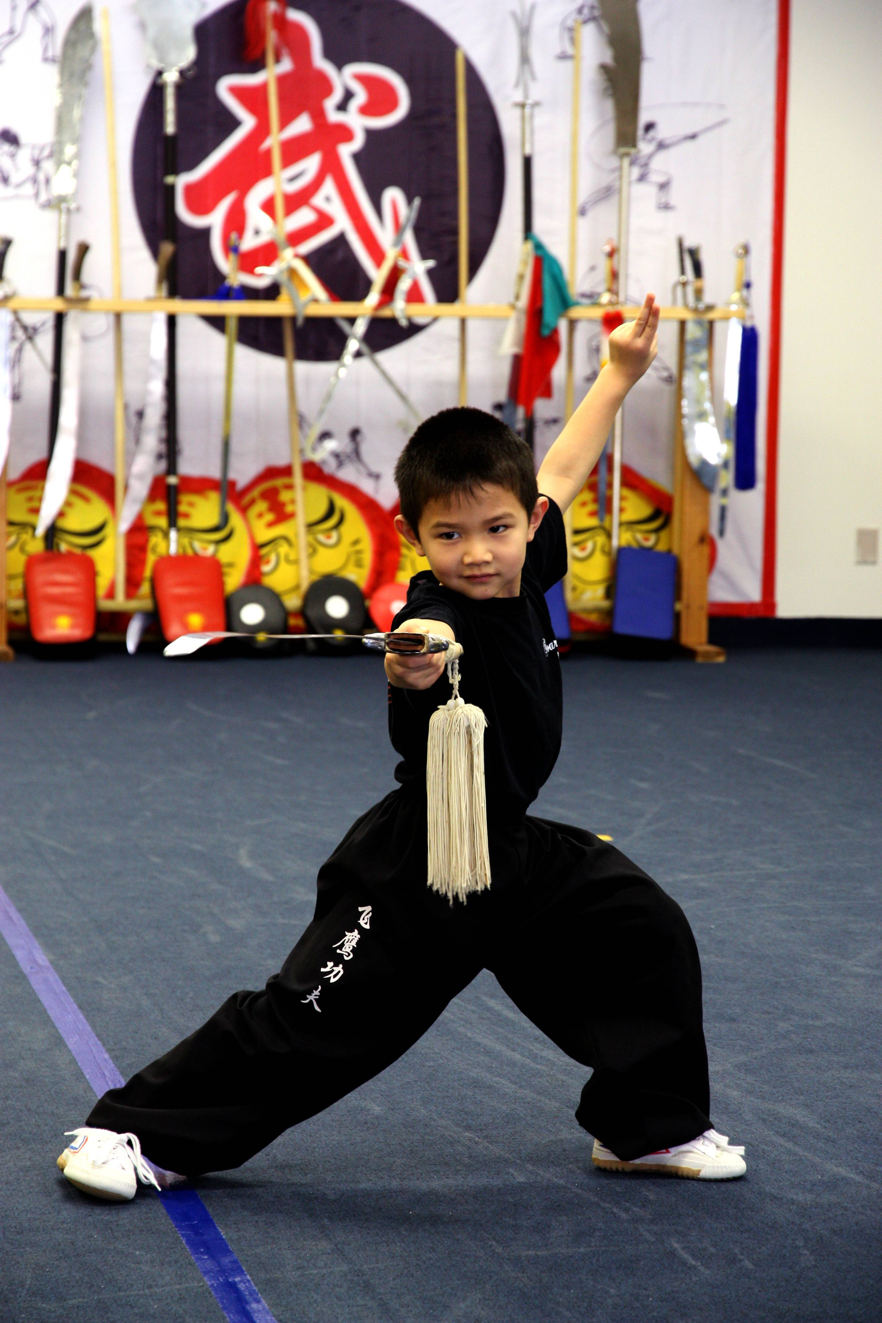 Soaring Eagle Kung Fu School, a premier Kung Fu School in Palatine, offers free martial art classes for kids (new students only), teaching traditional Chinese Kung Fu every Thursday 6pm-6:50pm until August 30. These basic skills will help children to build strength, develop focus, self-discipline and confidence.