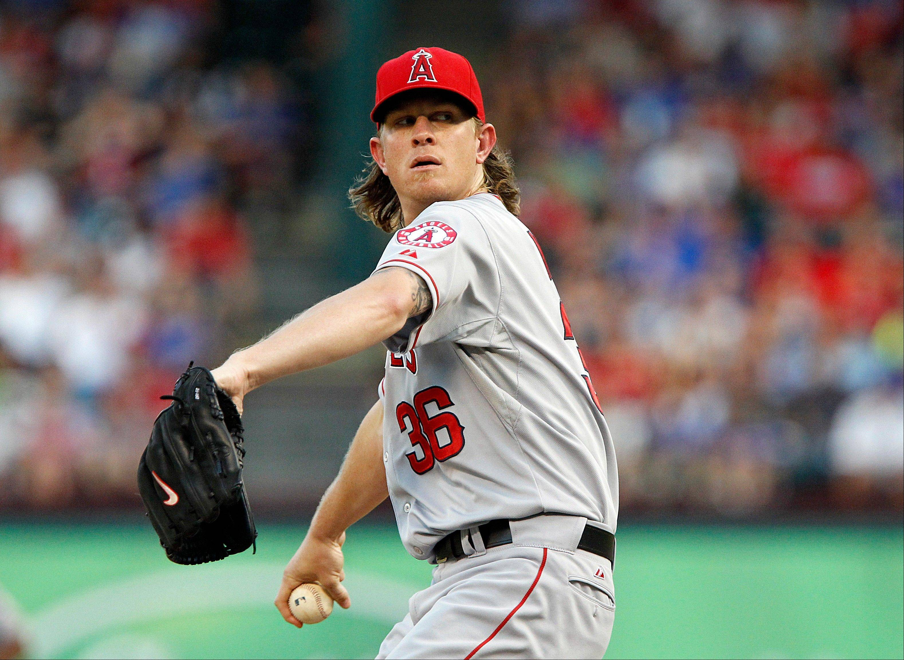 Angels starting pitcher Jered Weaver on Tuesday became just the eighth AL pitcher since 1921 to win at least six games without a loss in July.