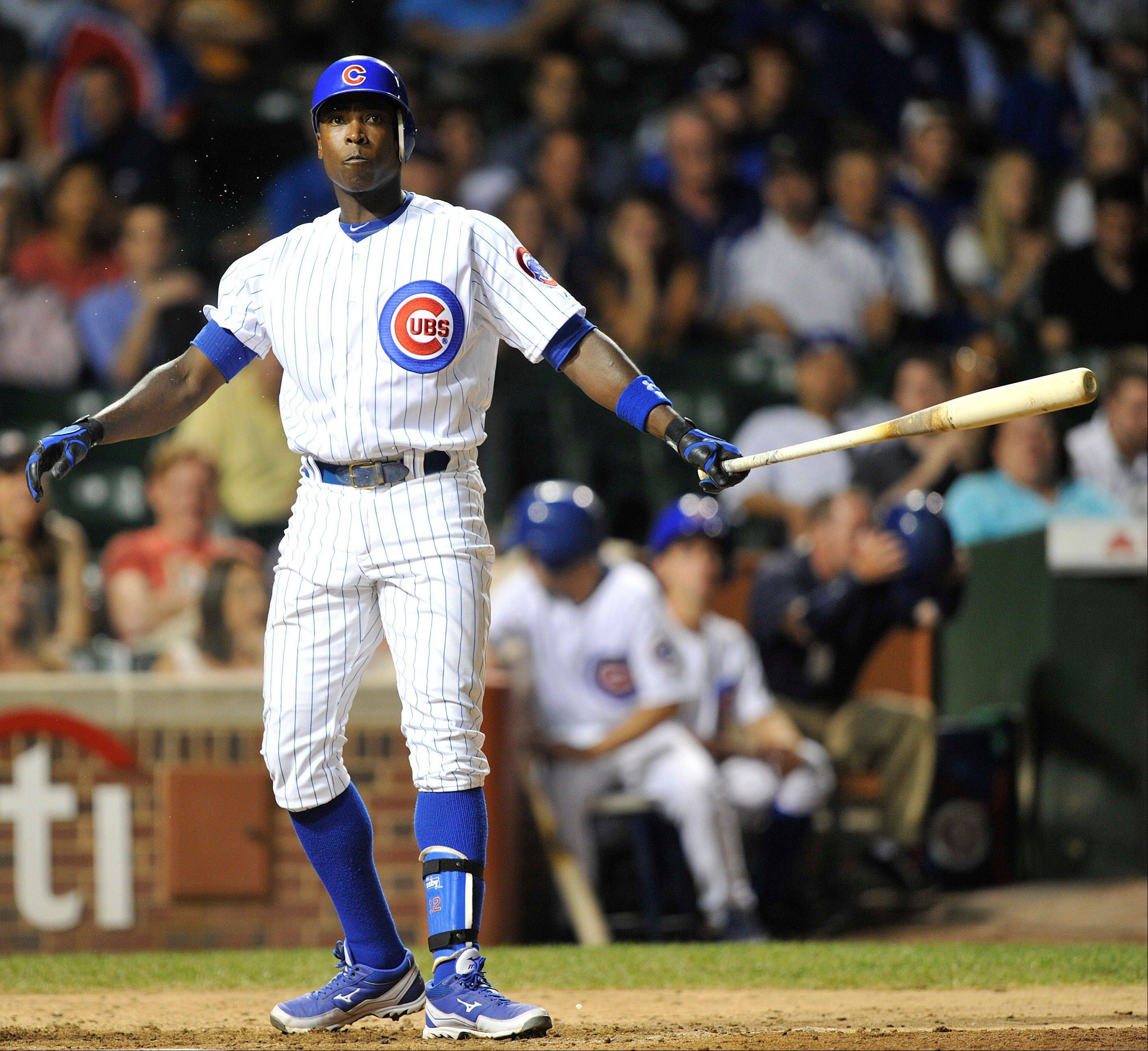 Cubs left fielder Alfonso Soriano reacts Tuesday after striking out for the final out in the Pittsburgh Pirates� 5-0 win.