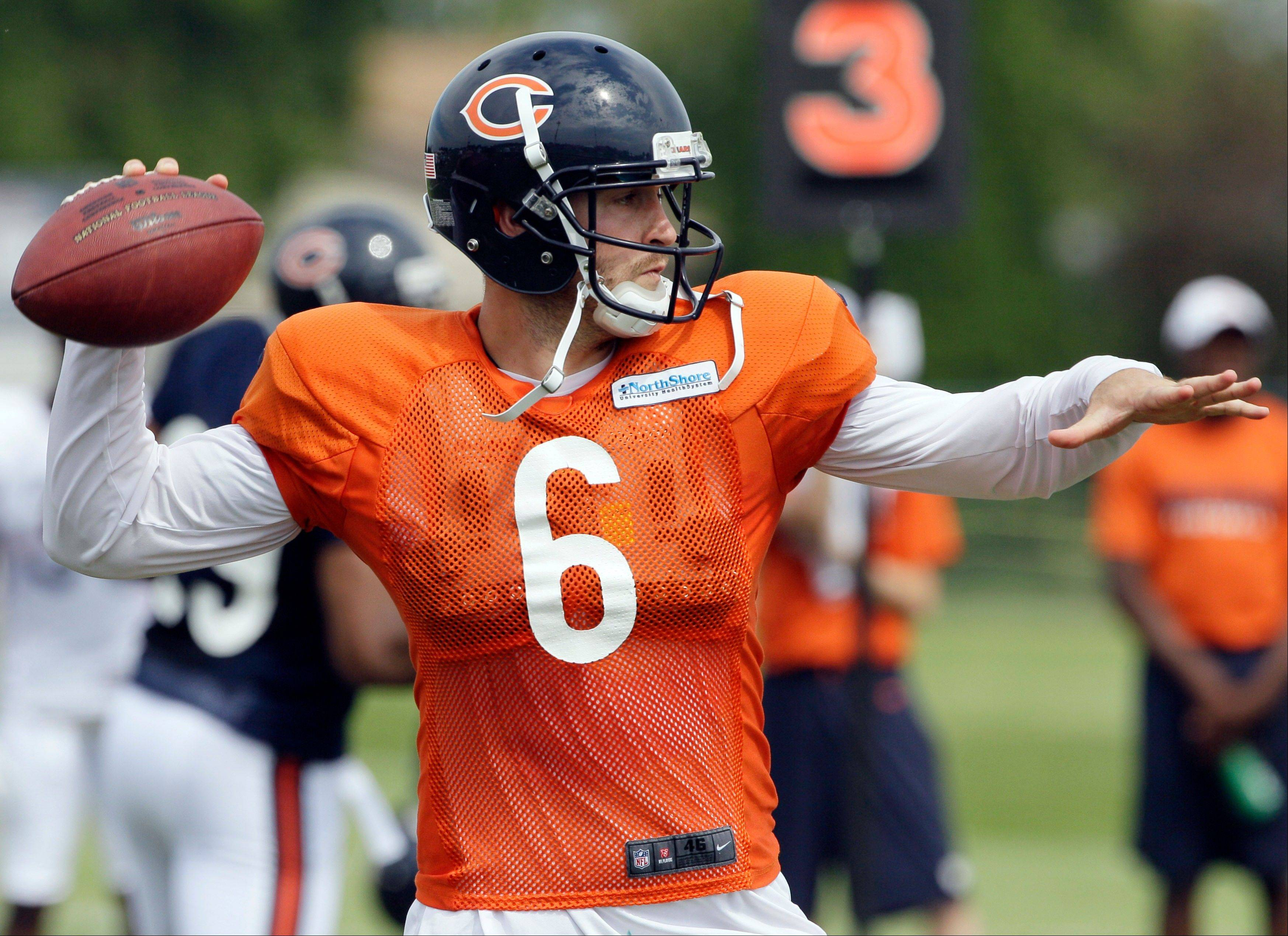 "Bears quarterback Jay Cutler likes having the option to audible at the line. ""I think it makes everyone's jobs a little bit easier because we can put ourselves in a good play,"" the quarterback said. ""If we've got something bad and the defense is going to take it over, then we can go ahead and audible and get out of it and get into something that hopefully we can execute."""
