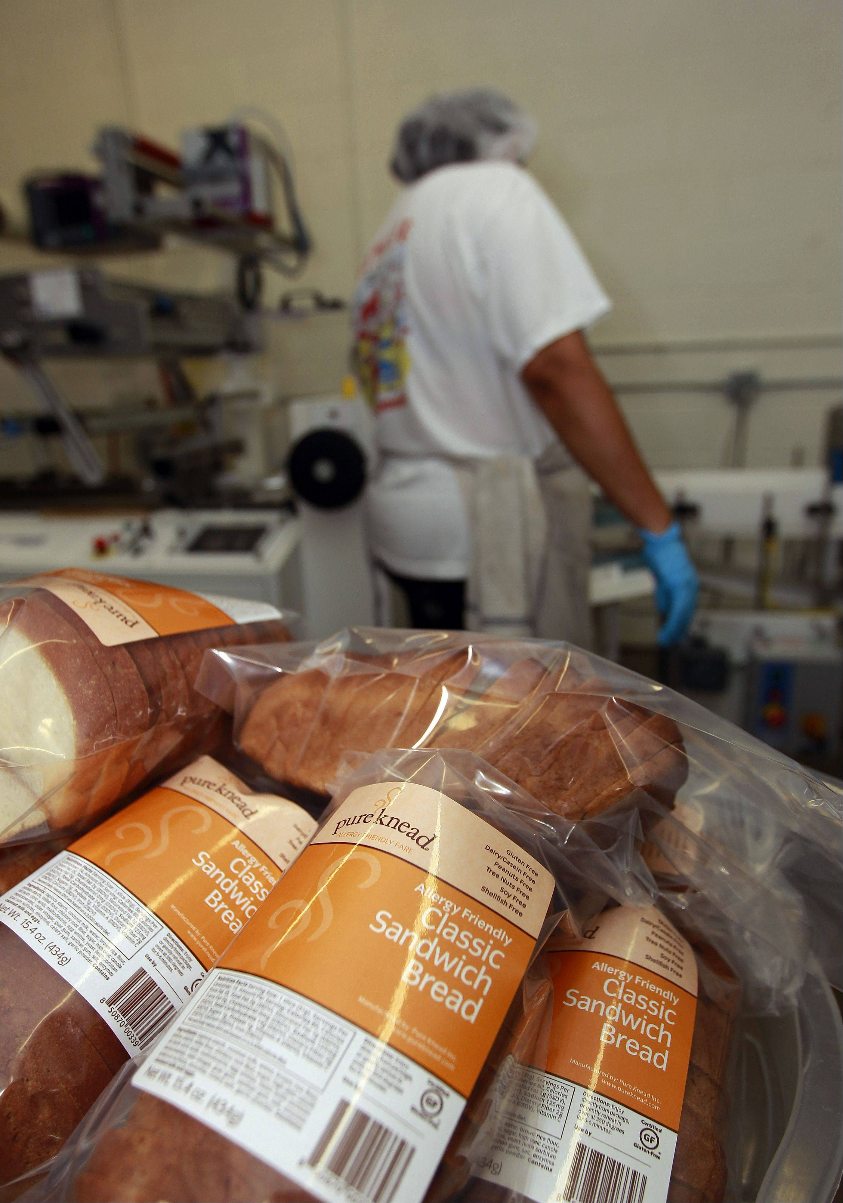 Gluten-free bread is packaged at the Pure Knead bakery in Decatur, Ga. A decade ago, virtually no one in the United States seemed to have a problem eating gluten in bread and other foods. Now, millions do.