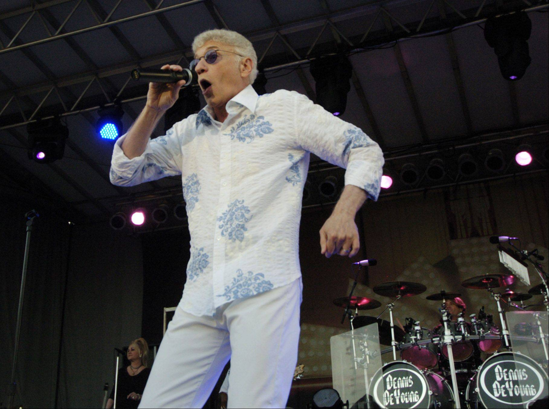 Dennis DeYoung performs during the Elk Grove Mid Summer Classics concert series on the Village Green Tuesday.