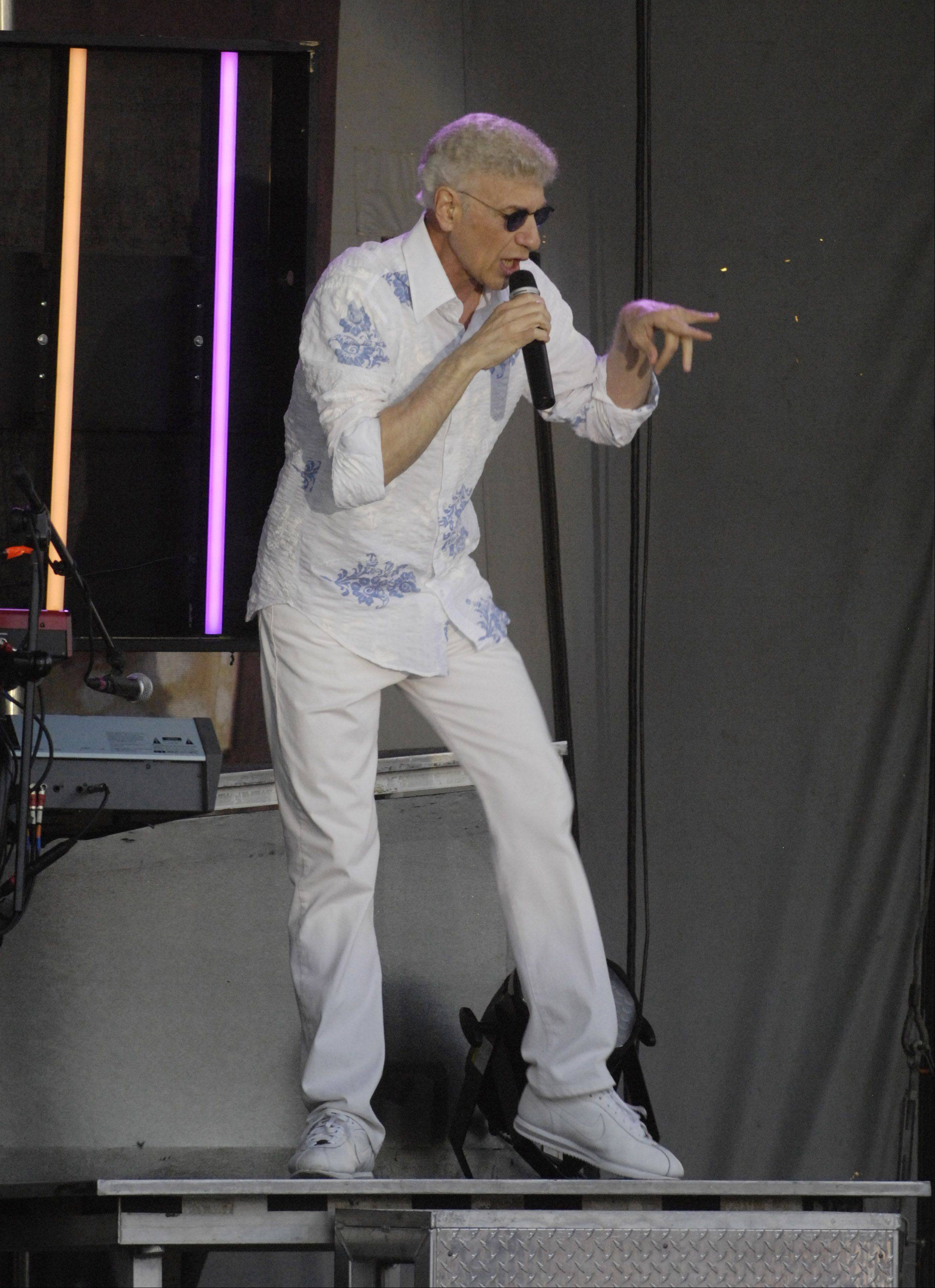 "Dennis DeYoung of ""Styx"" fame performs during the Elk Grove Mid Summer Classics concert series on the Village Green Tuesday."