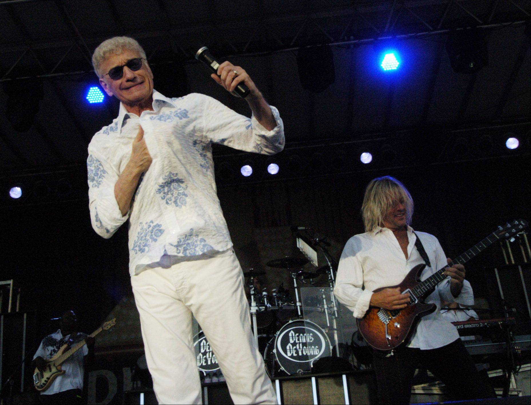 "Dennis DeYoung performs ""The Music of Styx"" during the Elk Grove Mid Summer Classics concert series on the Village Green Tuesday."