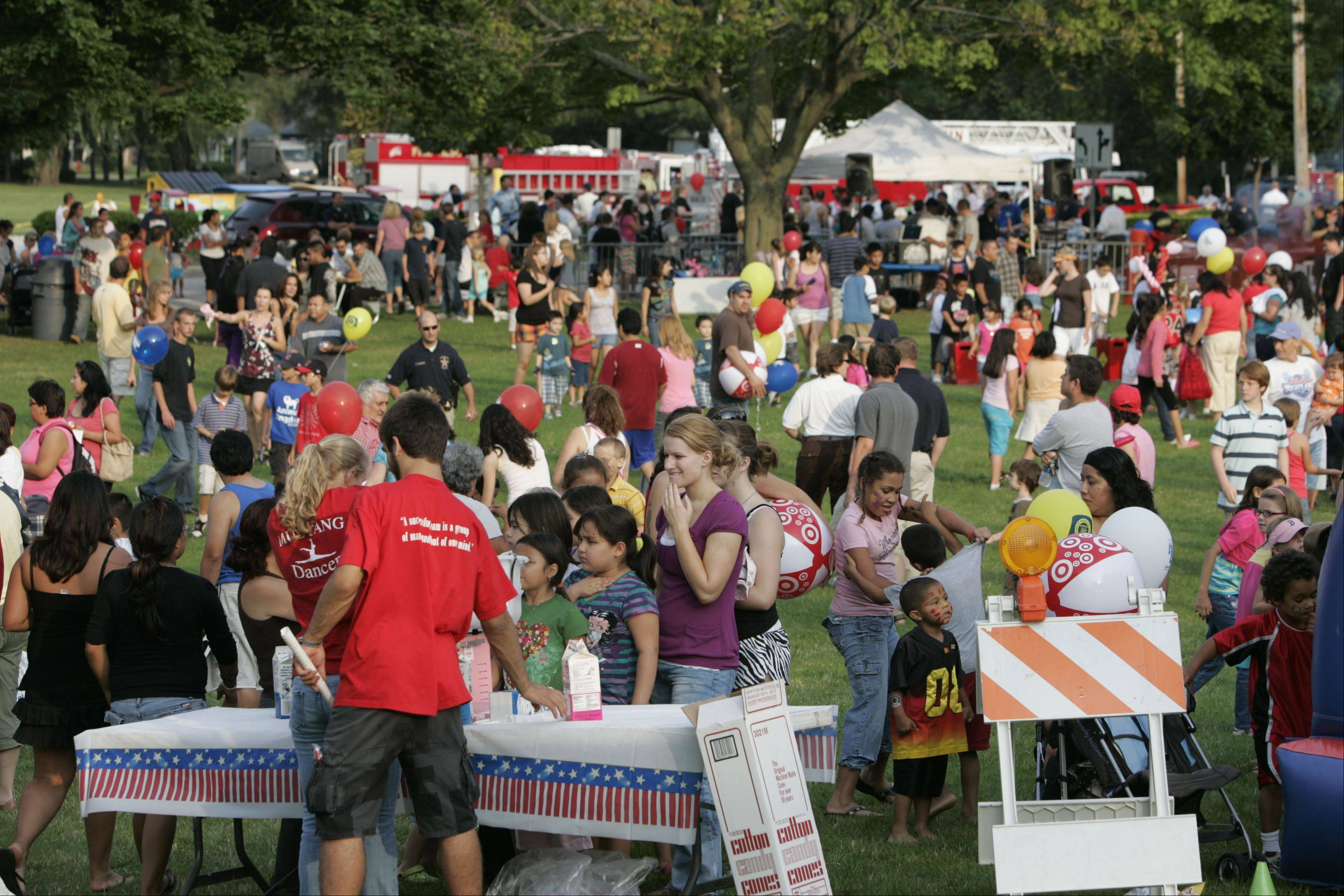 Mundelein will again host a National Night Out event this year, featuring a flashlight walk, obstacle course, face painting and other activities. The event takes place Aug. 7.