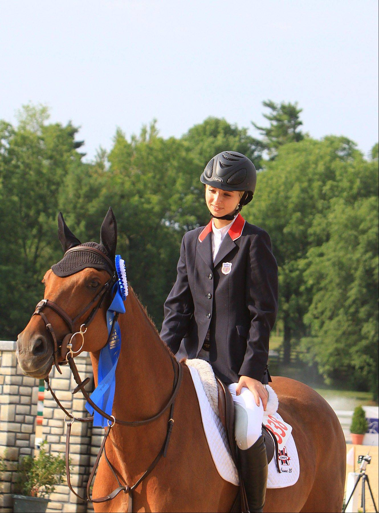 Rider and horse Abigail McArdle and Cosma 20.