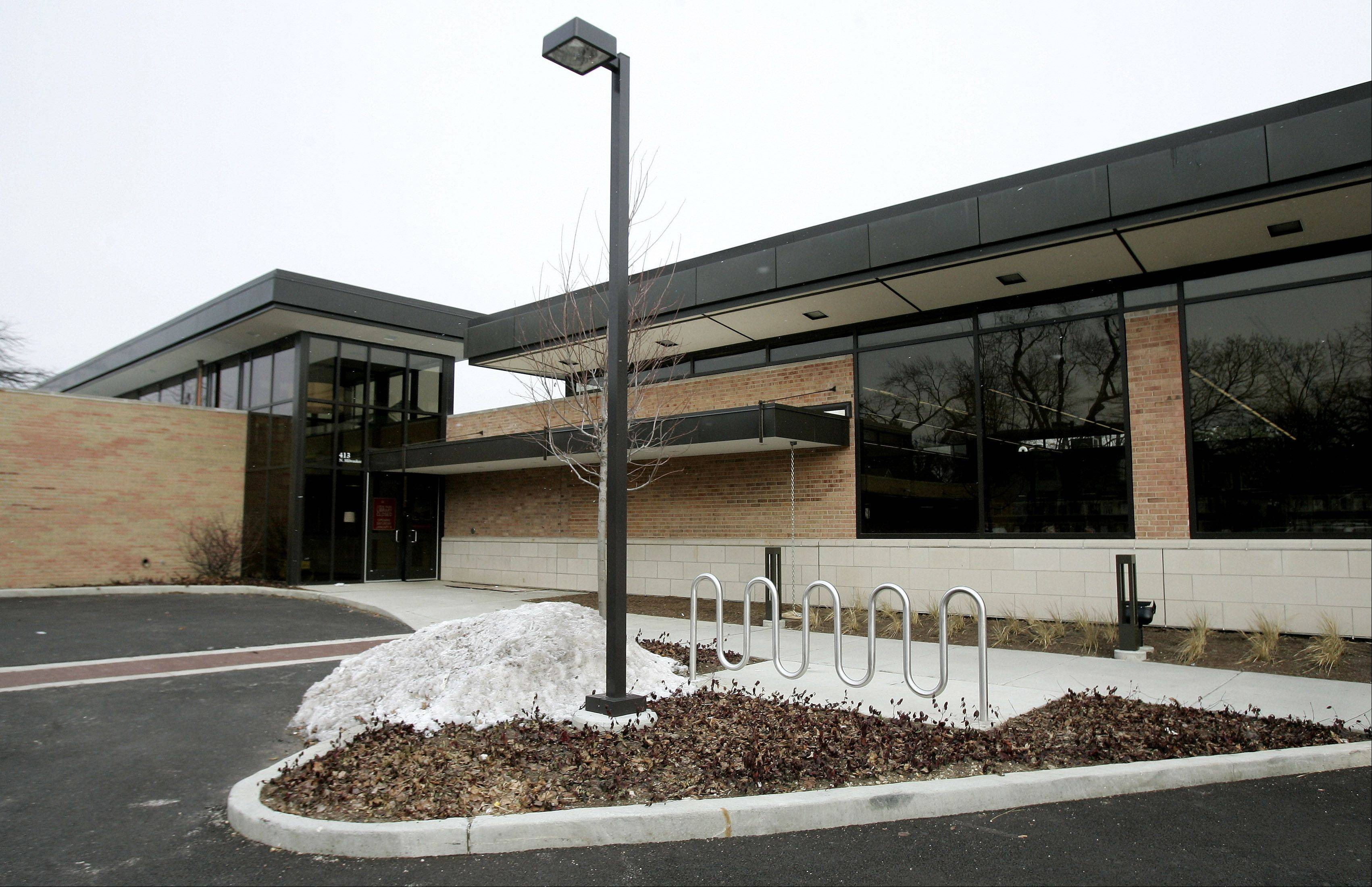 The Cook Park Library in Libertyville could soon be equipped with panic buttons that would alert police to emergencies.