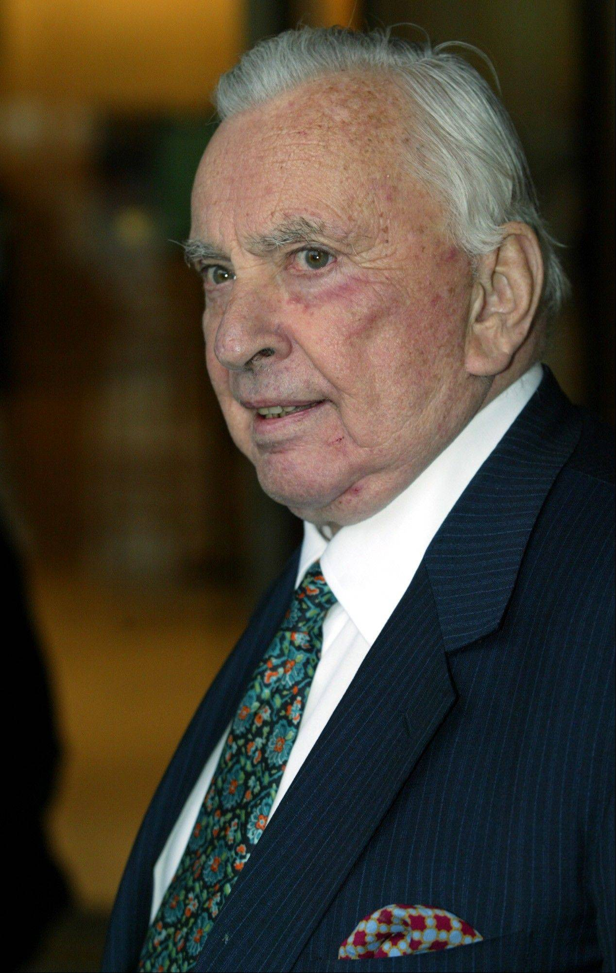 In this May 5, 2003, file photo, author Gore Vidal arrives for the Film Society of Lincoln Center's gala event in New York. Vidal died Tuesday at his home in Los Angeles. He was 86.