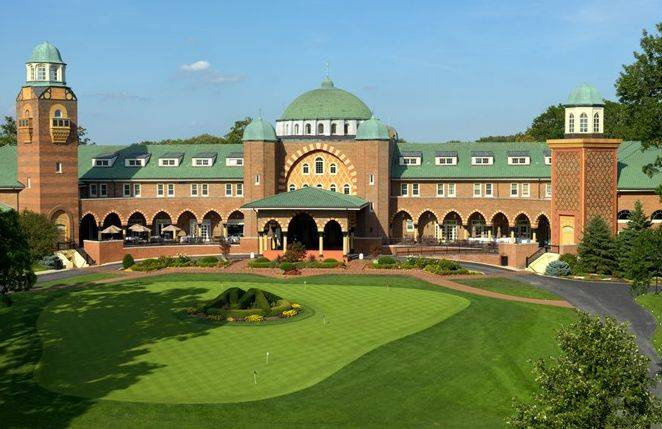 The historic clubhouse at the Medinah Country Club will be the focal point for the 2012 Ryder Cup in late September.