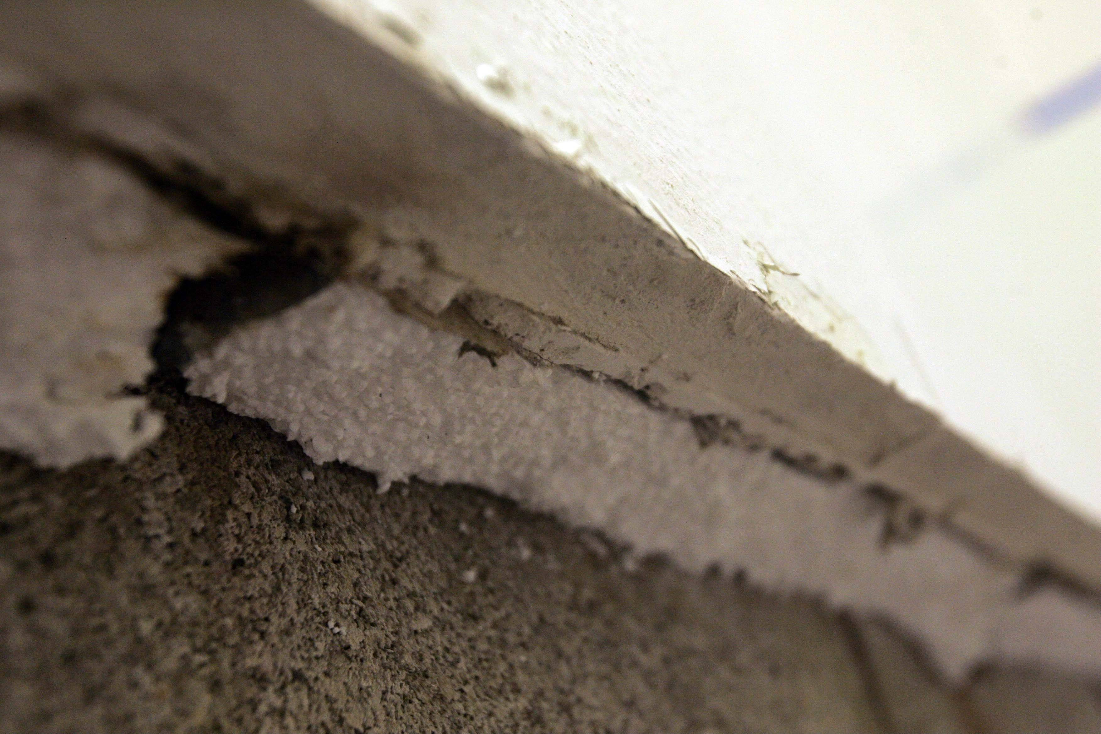 Mold was found in the Norris Recreation Center's north wall of racquetball court 3, which was part of an addition in 1981 to the original 1974 building. The wall from inside to out consists of plaster, wall board, block and brick.