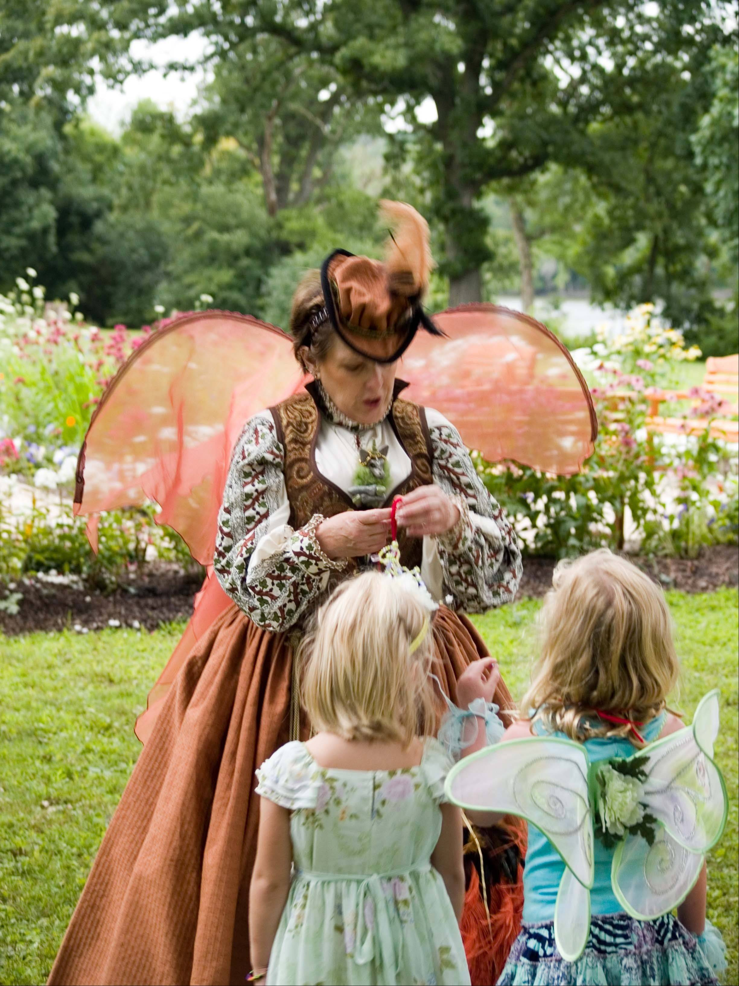 Carol Posa dresses as the festival's Fairy Godmother at last year's festival.
