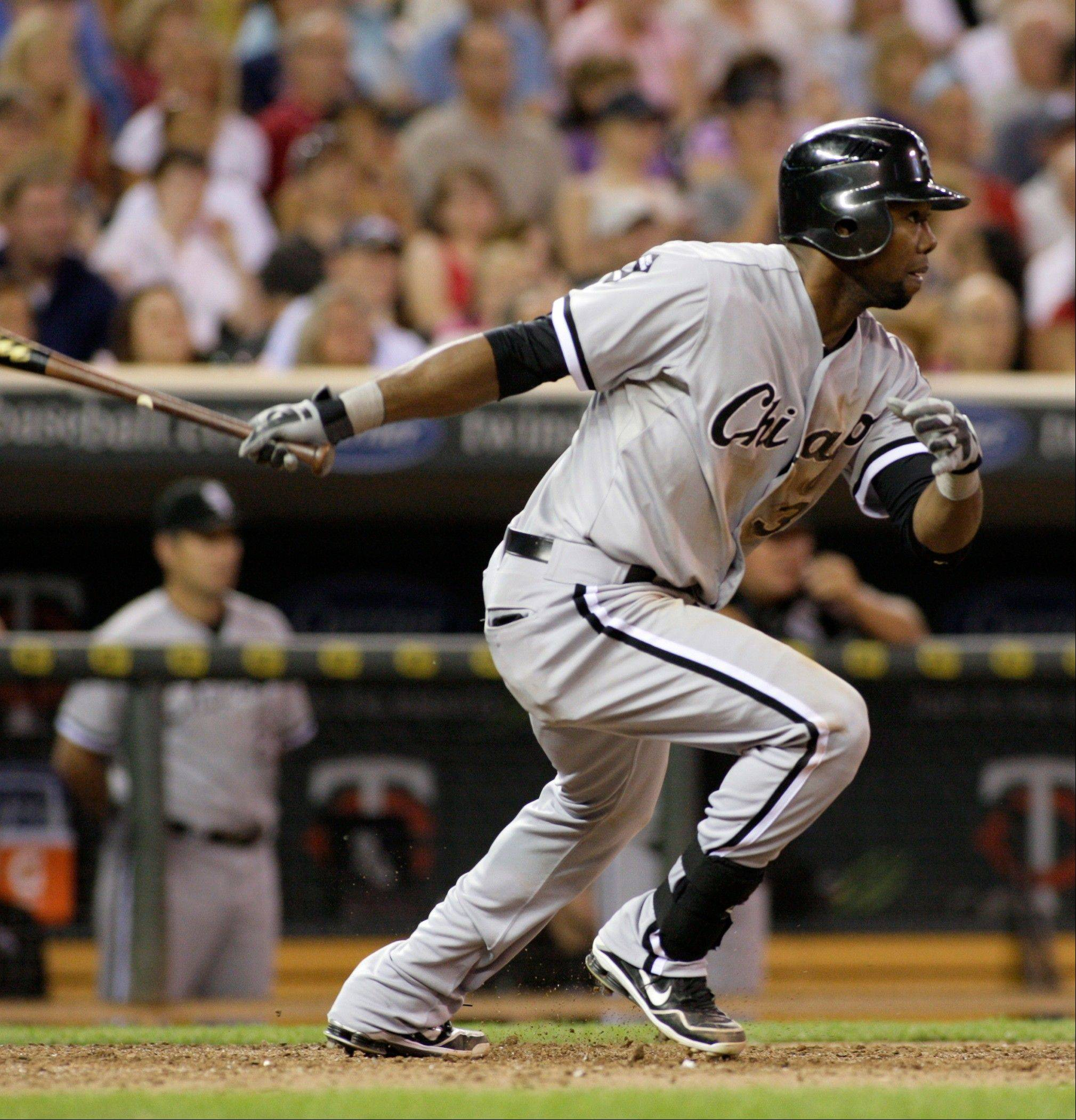 Center fielder Alejandro De Aza has a solid .351 on-base percentage leading off for the White Sox this season.