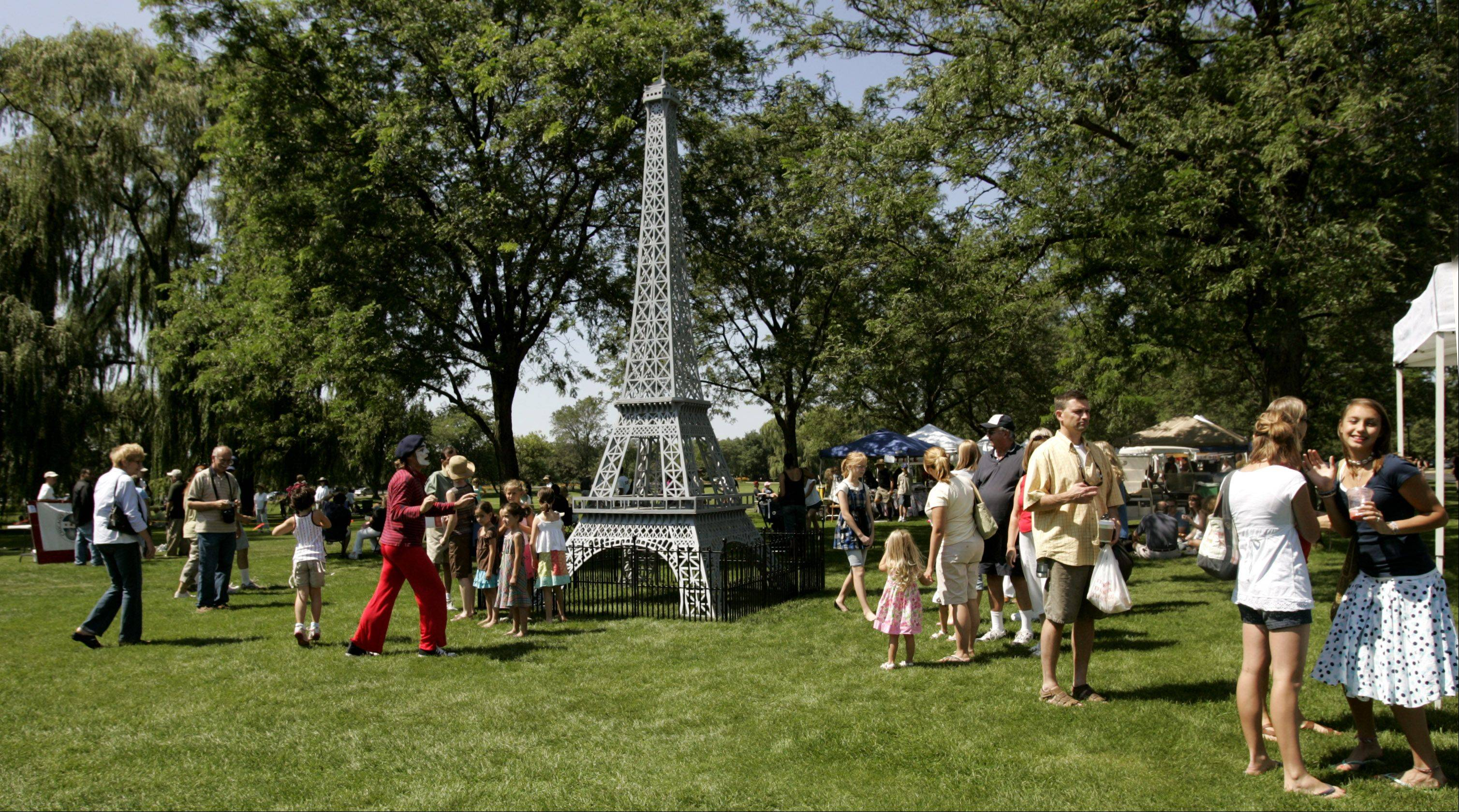 A 23-foot replica of the Eiffel Tower will help set the scene for French Connection Day next weekend at Cantigny Park.