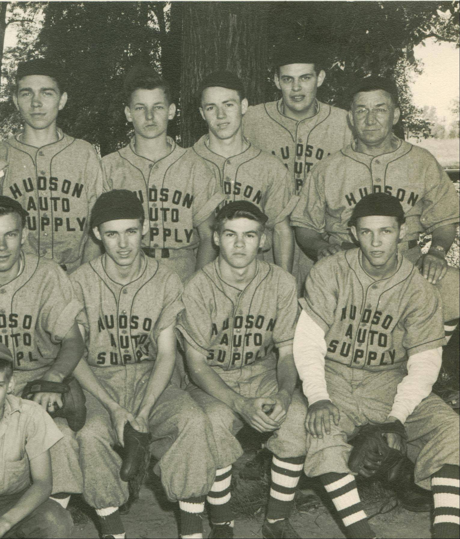 Ken Black, second from right in the bottom row, played on this team when he was 15 years old.