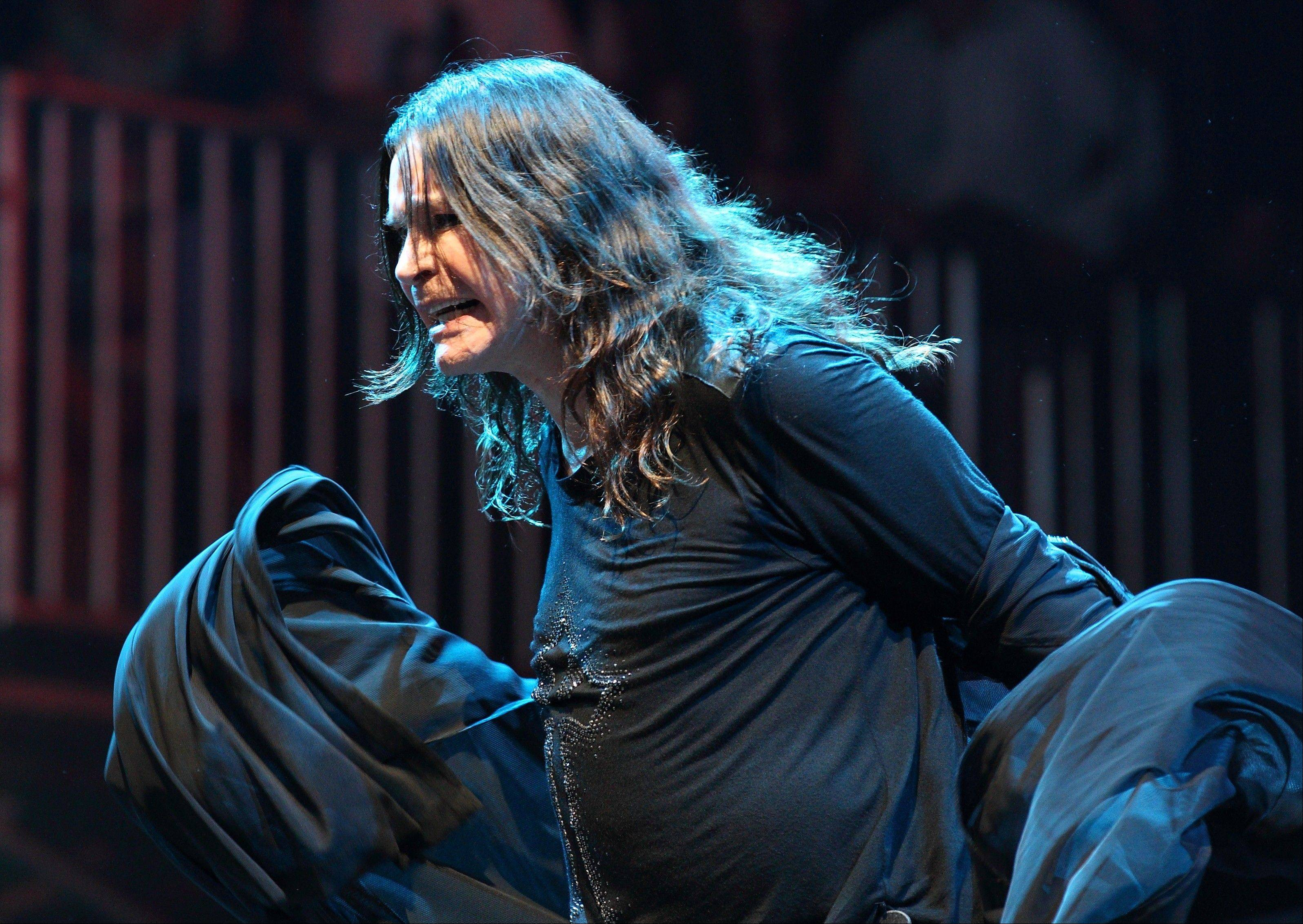 Ozzy Osbourne of Black Sabbath performs aLollapalooza on opening day in Chicago's Grant Park on Friday, Aug. 3, 2012.