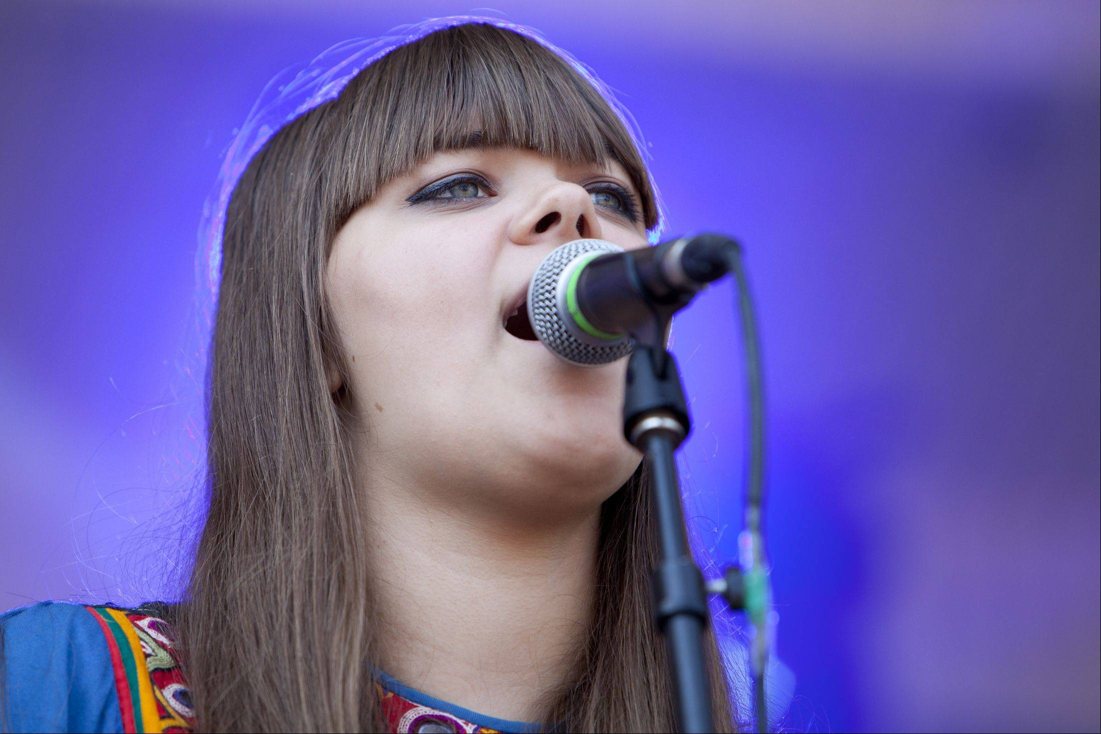Klara Soderberg of the Swedish group First Aid Kit performs Friday at Lollapalooza.