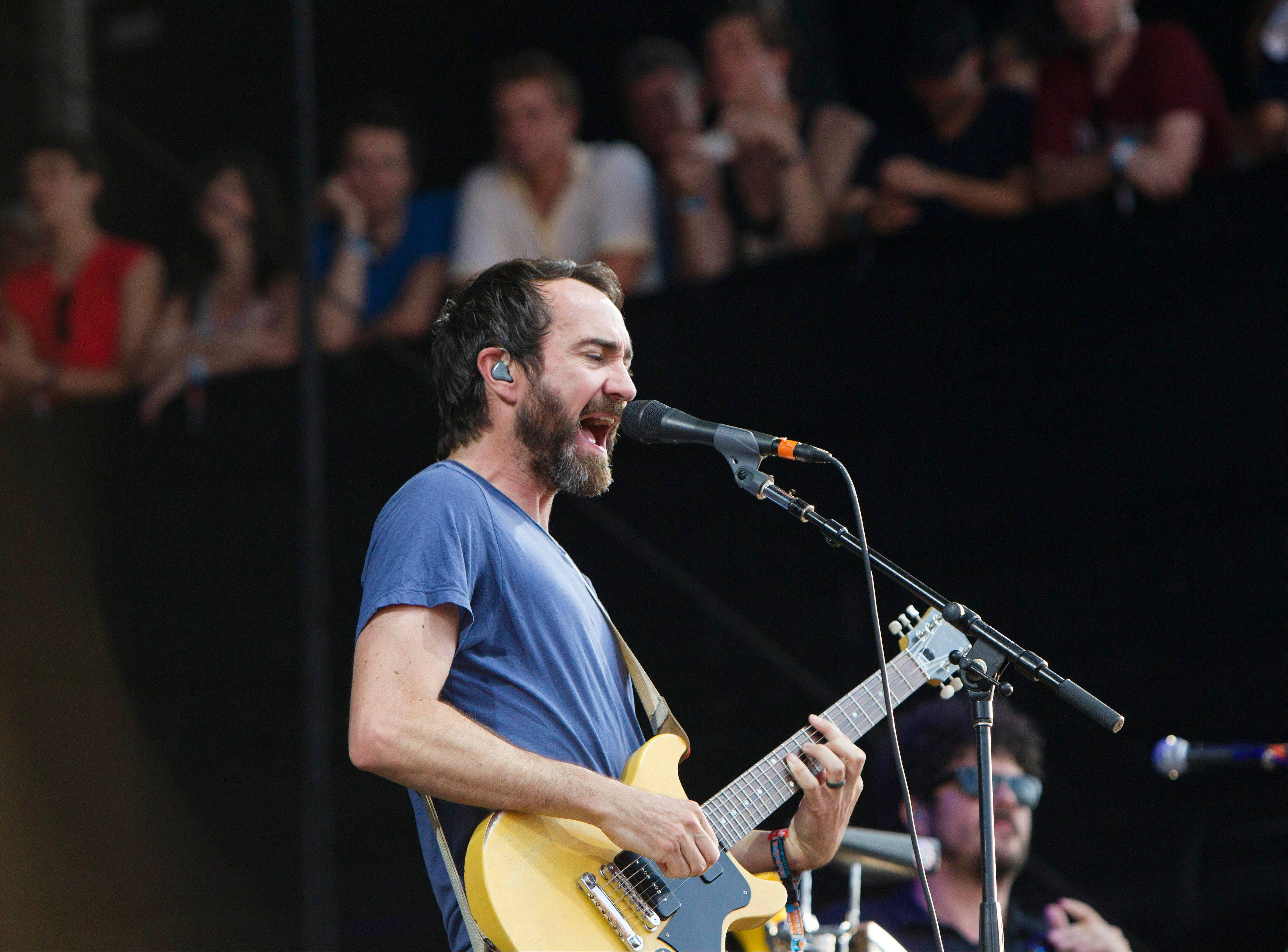 James Mercer from The Shins performs at Lollapalooza in Chicago's Grant Park on Friday, Aug. 3, 2012.