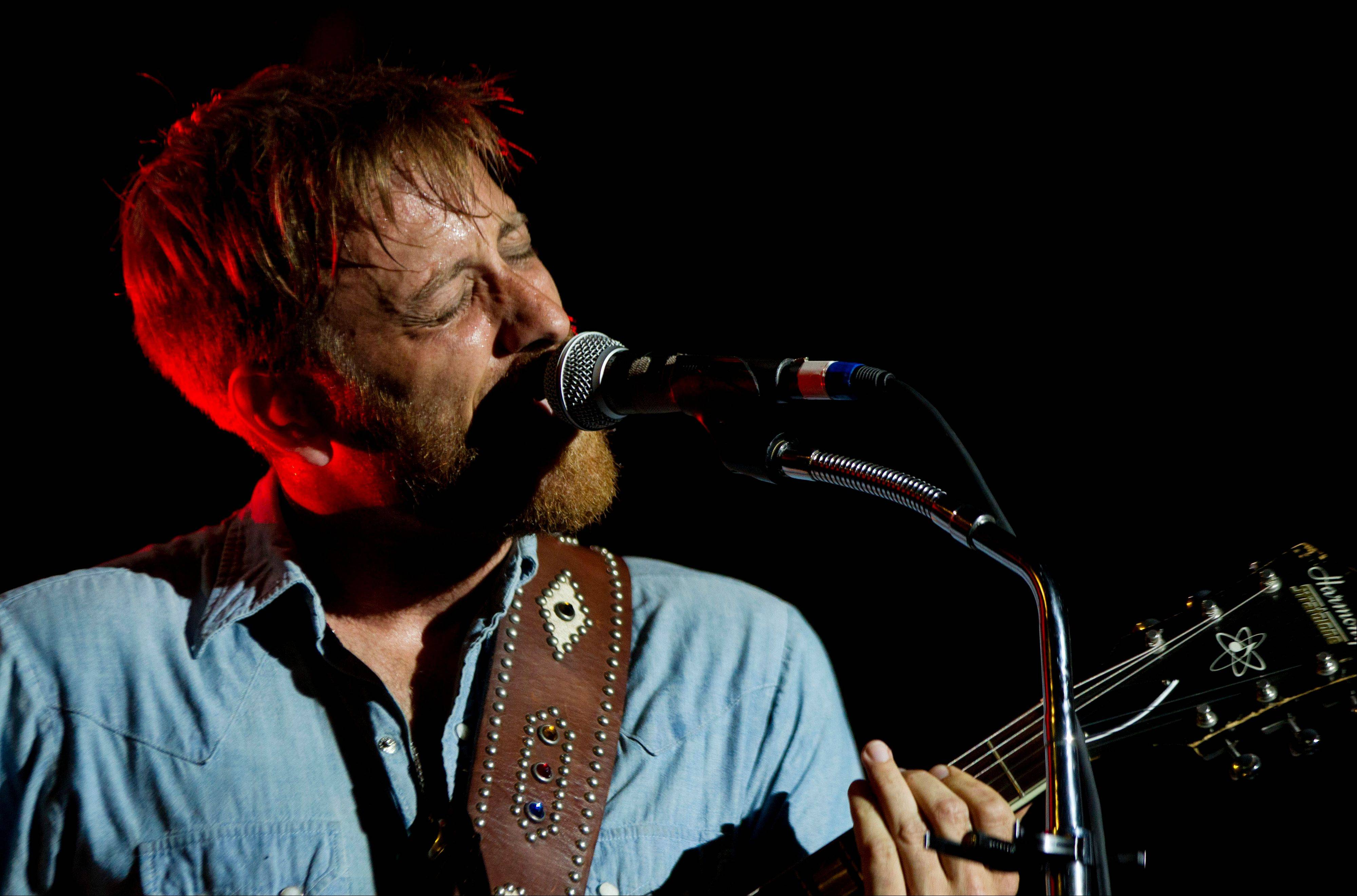Dan Auerbach from The Black Keys performs at Lollapalooza in Chicago's Grant Park on Friday, Aug. 3, 2012.