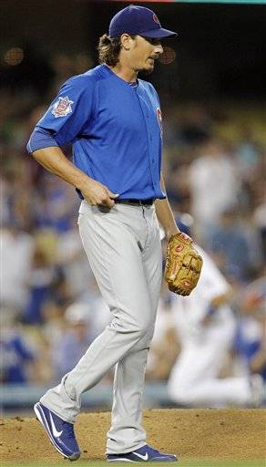 Jeff Samardzija (7-9) gave up five runs and eight hits in 5 1-3 innings without walking a batter and struck out three.